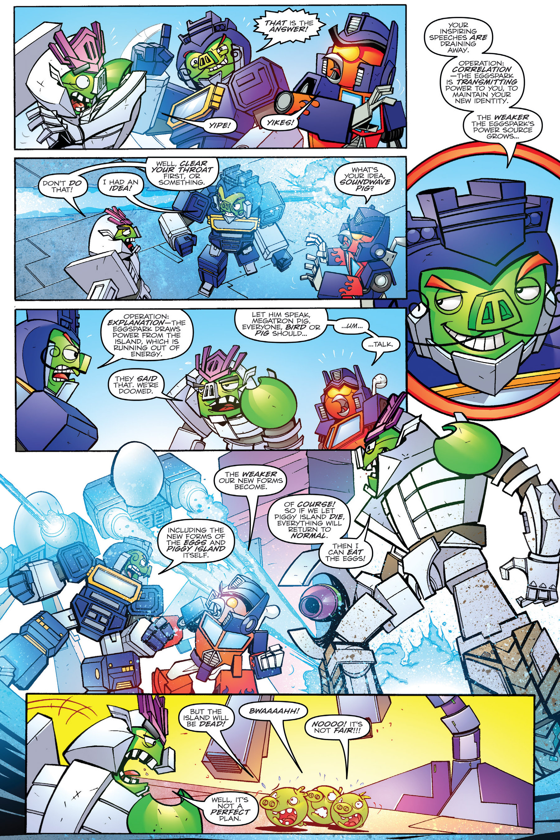 Read online Angry Birds Transformers: Age of Eggstinction comic -  Issue # Full - 72