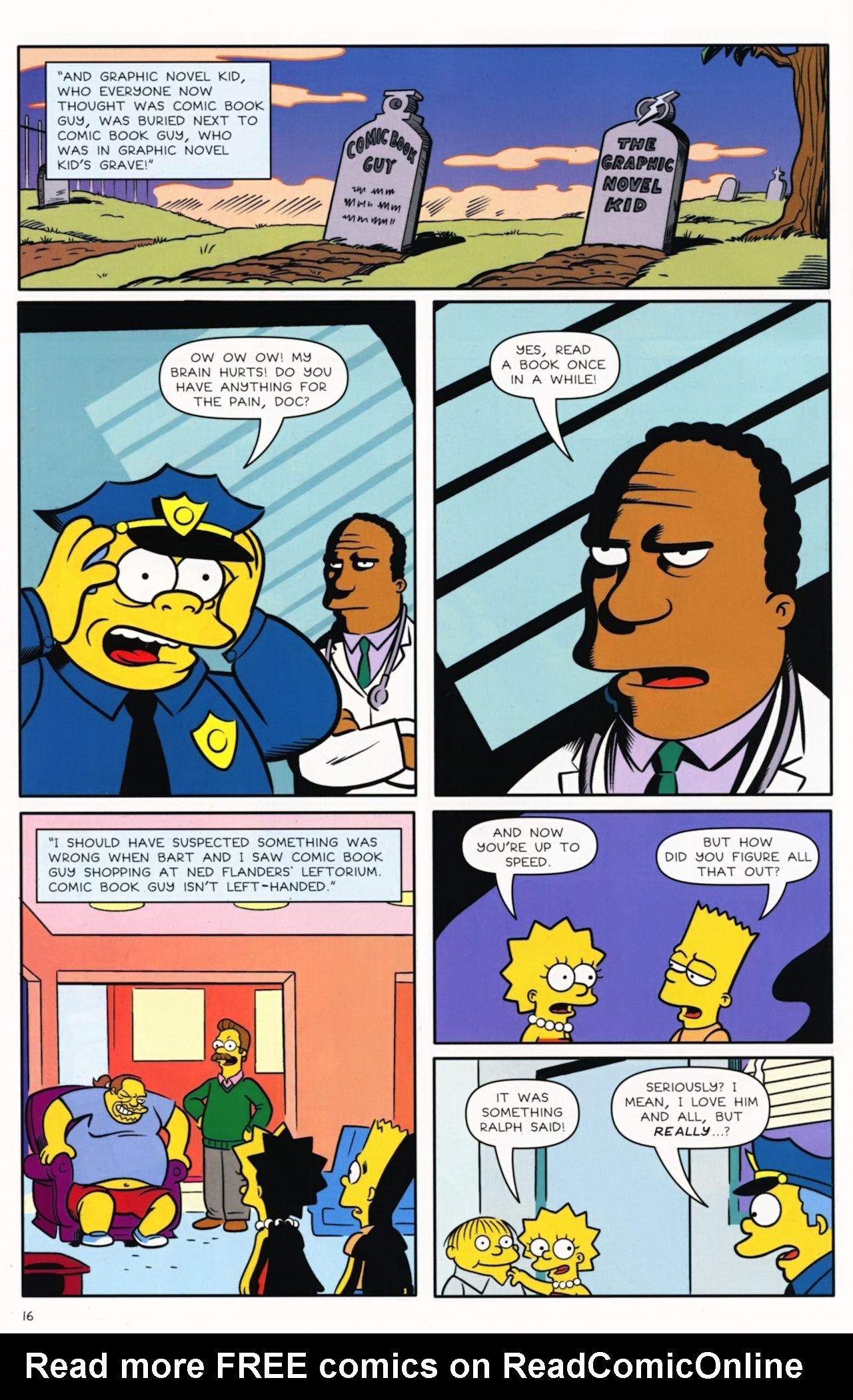 Read online Bongo Comics presents Comic Book Guy: The Comic Book comic -  Issue #5 - 18