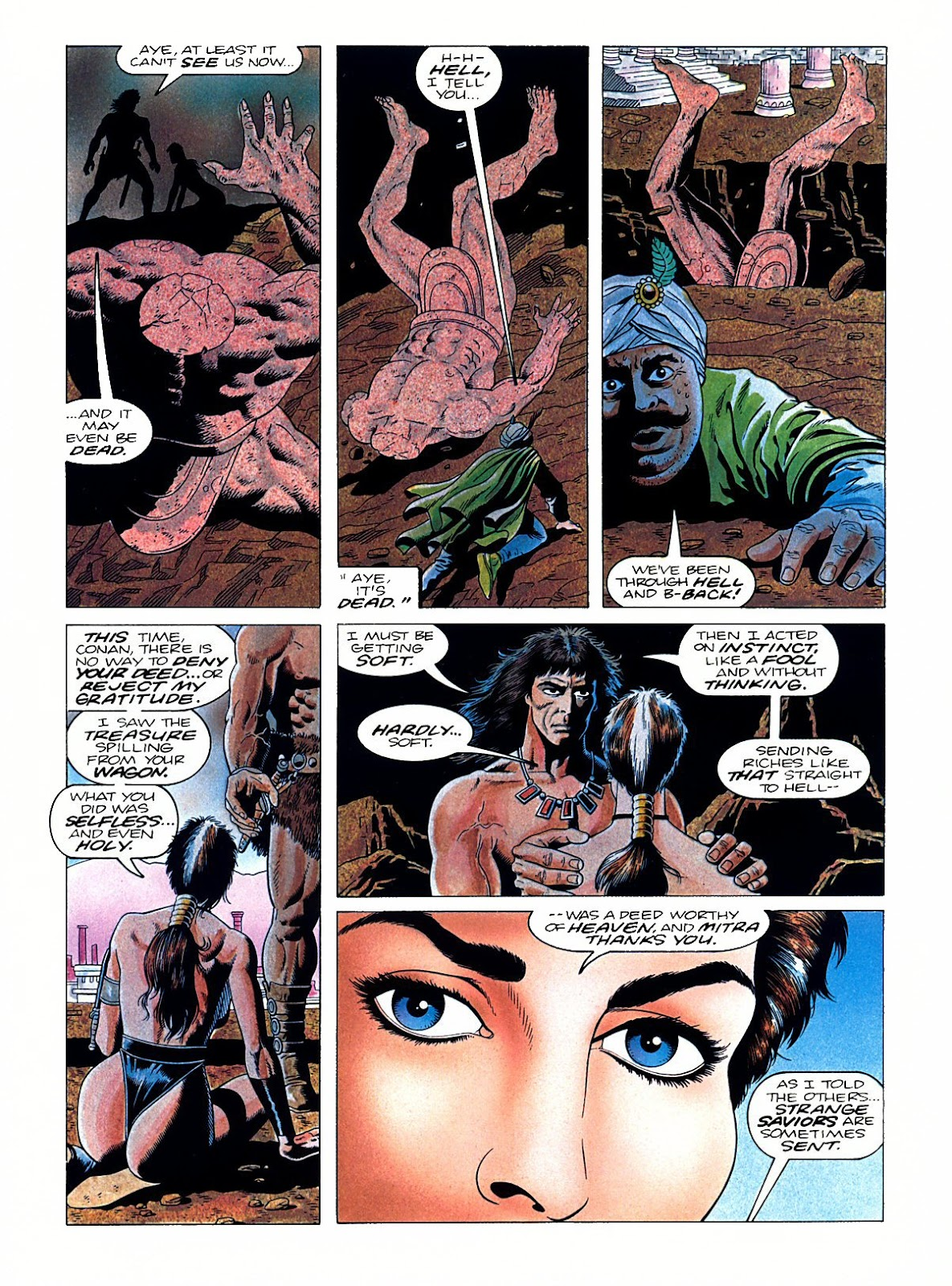 Read online Marvel Graphic Novel: Conan the Barbarian: The Skull of Set comic -  Issue # Full - 60