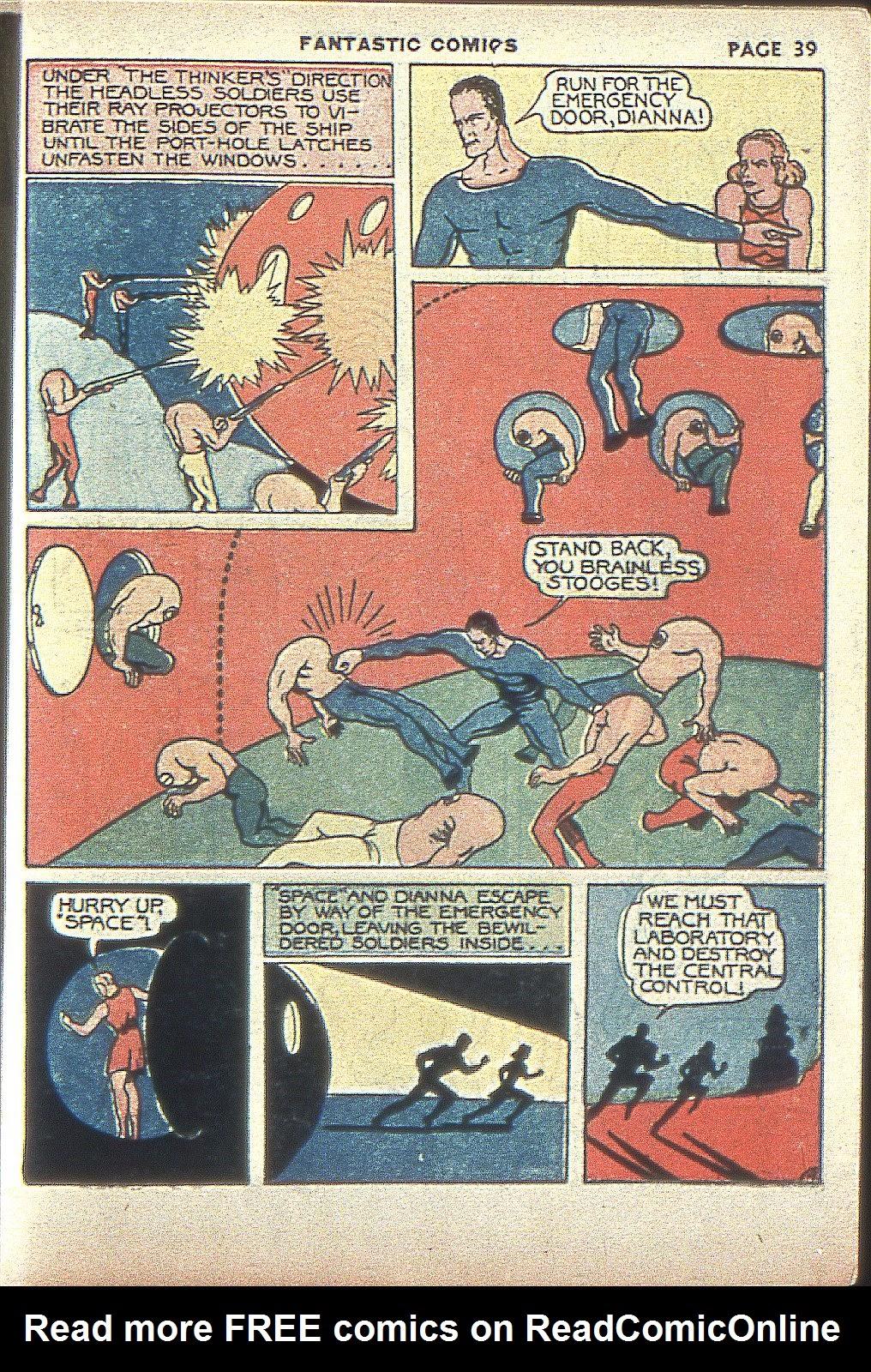 Read online Fantastic Comics comic -  Issue #4 - 40
