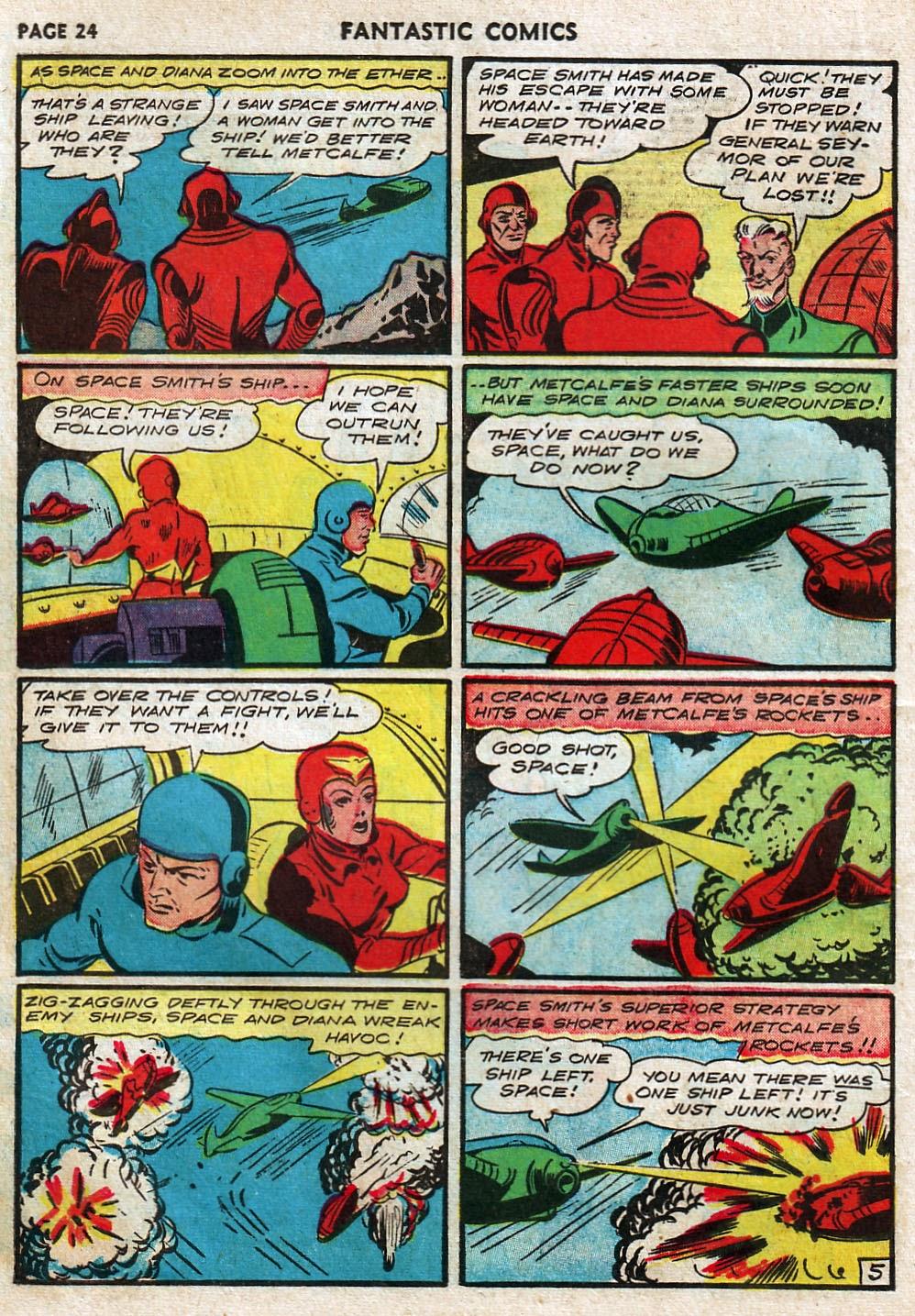 Read online Fantastic Comics comic -  Issue #17 - 26