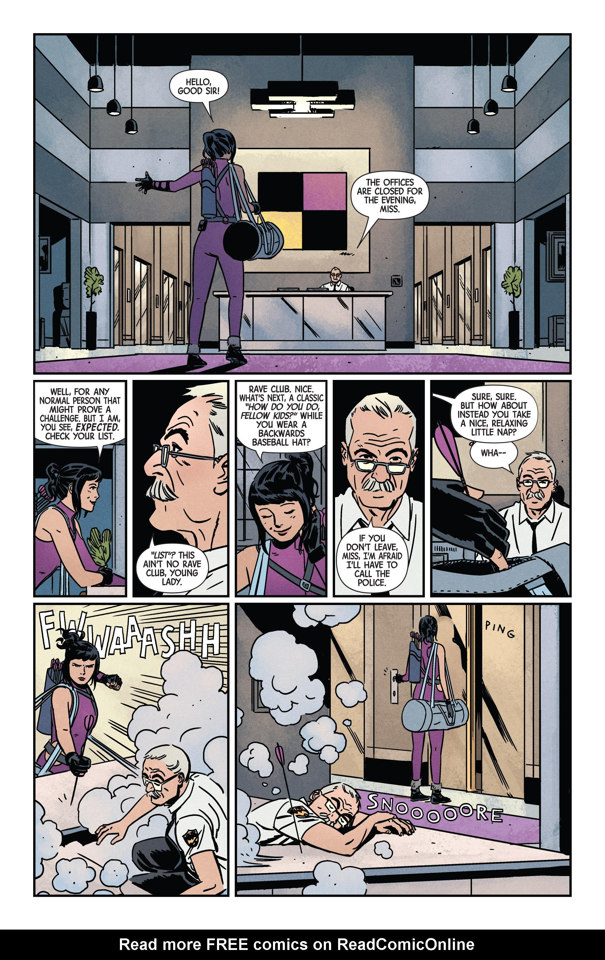 Read online Hawkeye (2016) comic -  Issue #7 - 9