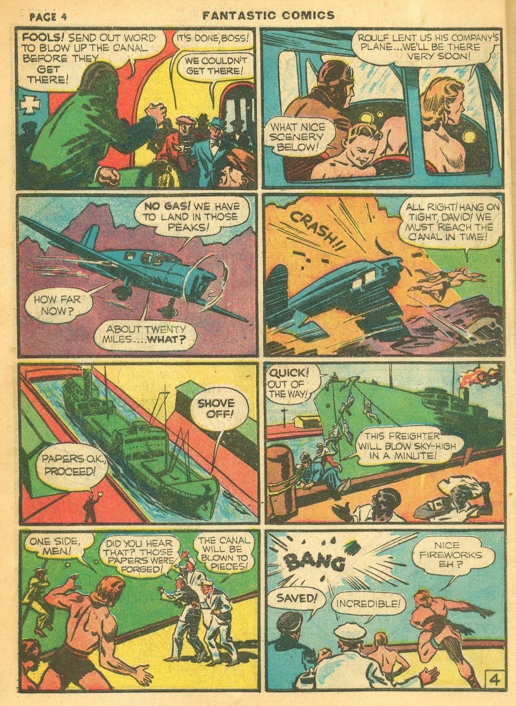 Read online Fantastic Comics comic -  Issue #12 - 6