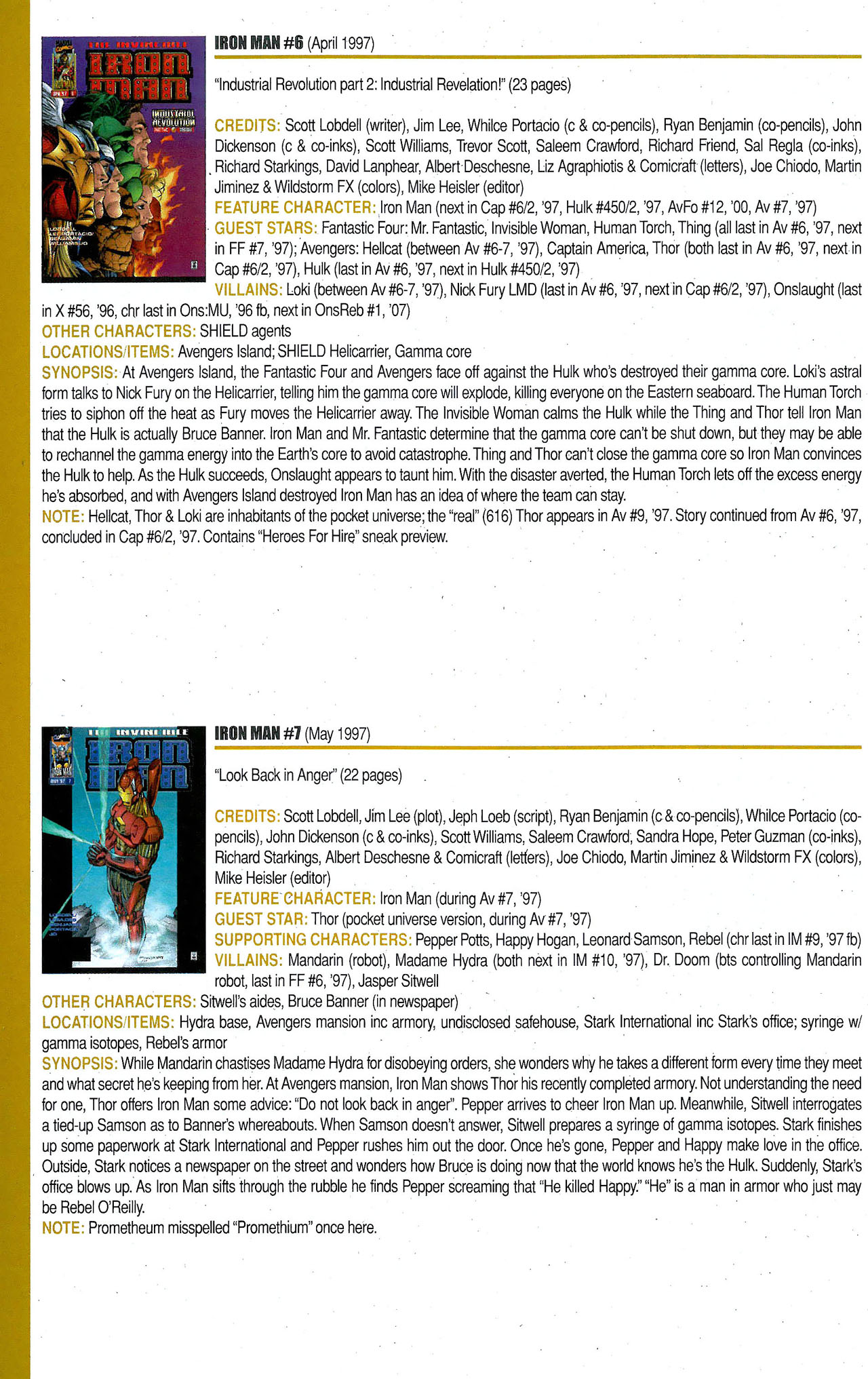 Read online Official Index to the Marvel Universe comic -  Issue #9 - 44