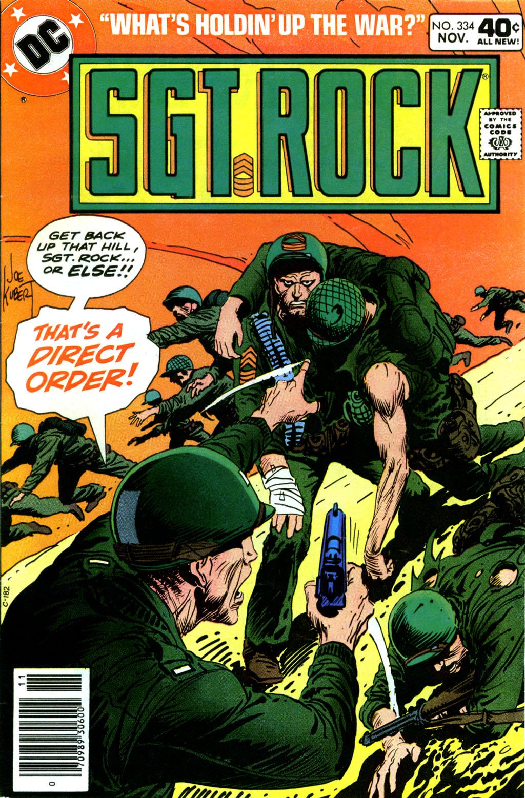 Read online Sgt. Rock comic -  Issue #334 - 1