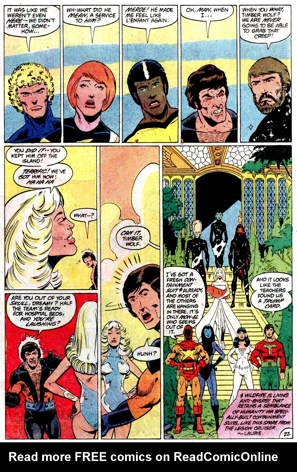 Legion of Super-Heroes (1980) 292 Page 22