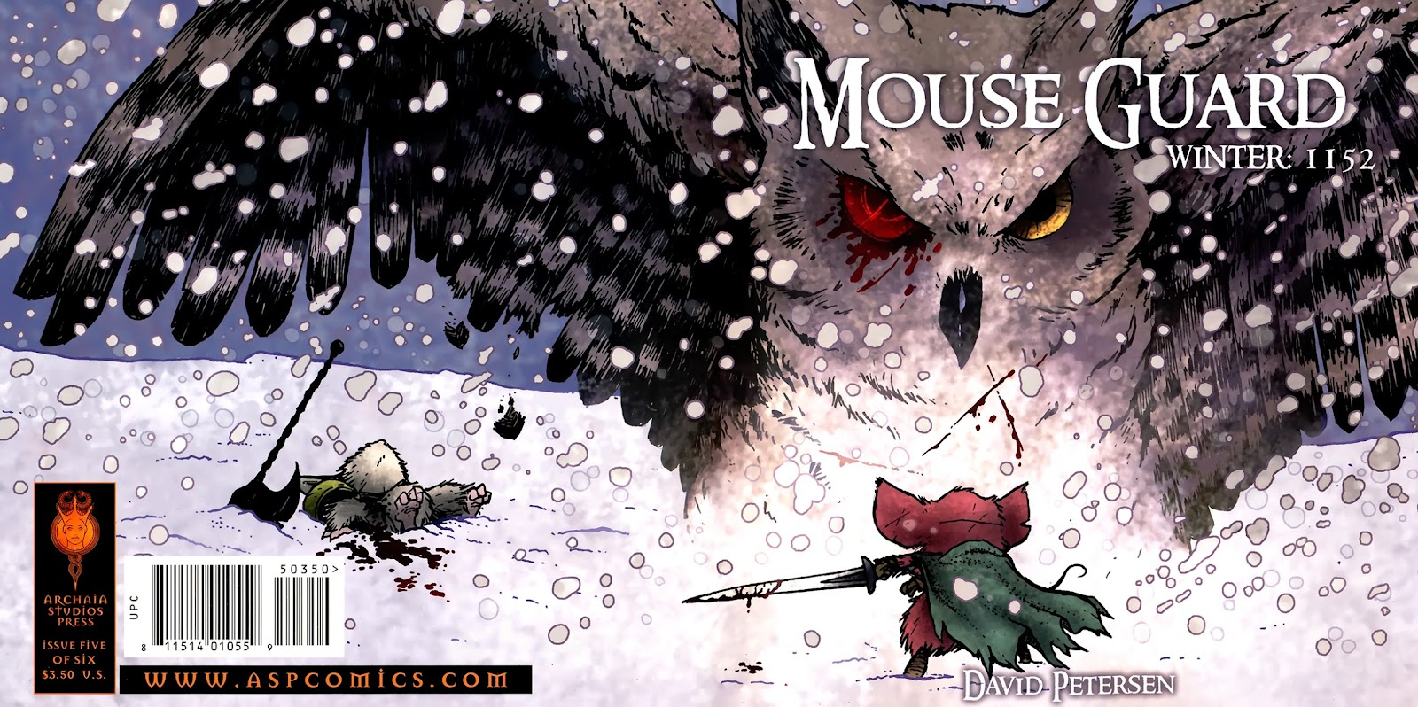 Mouse Guard: Winter 1152 issue 5 - Page 1