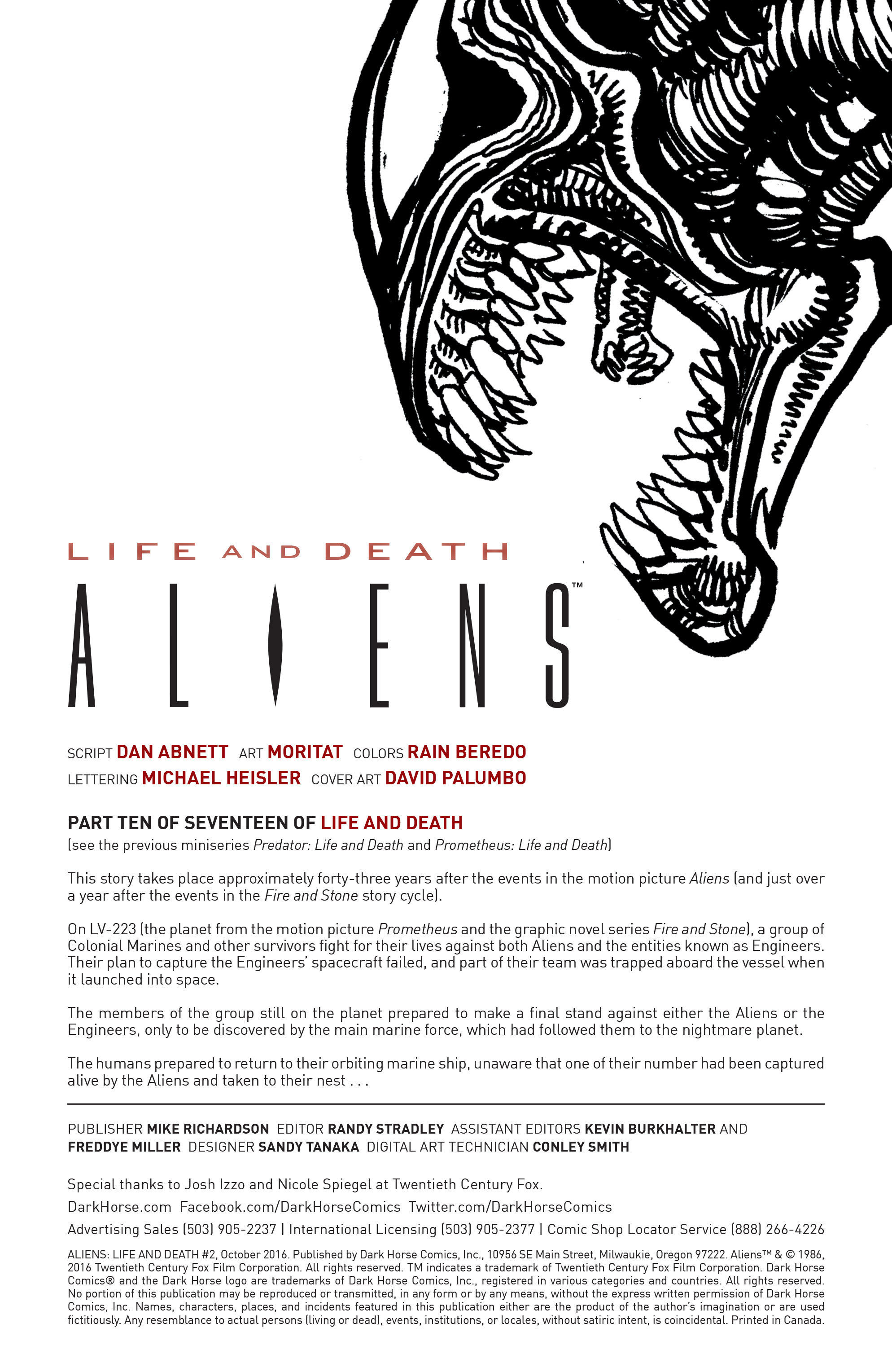 Read online Aliens: Life And Death comic -  Issue #2 - 2