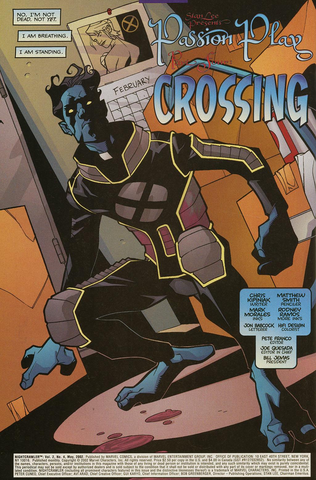 Read online Nightcrawler (2002) comic -  Issue #4 - 5