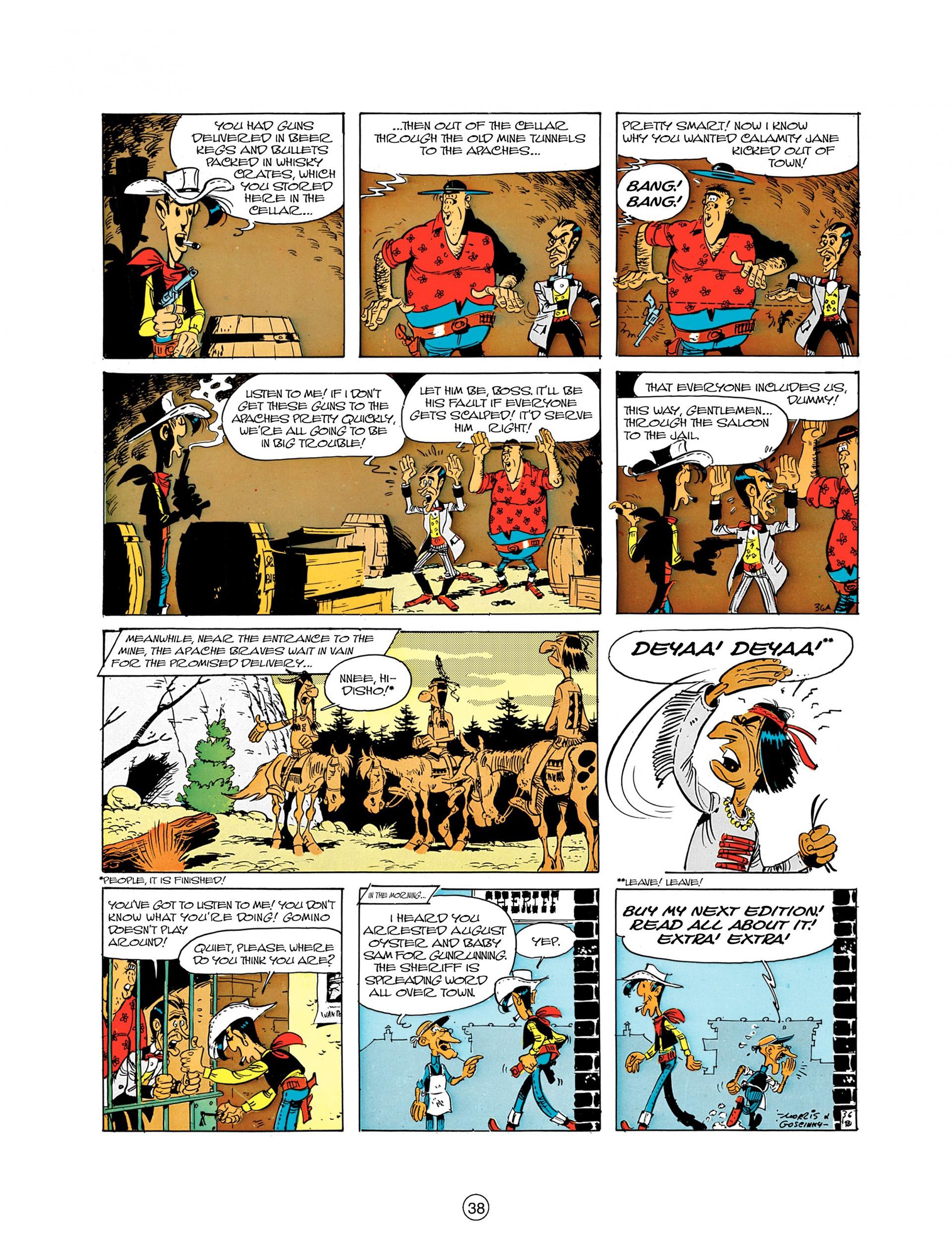 Read online A Lucky Luke Adventure comic -  Issue #8 - 38