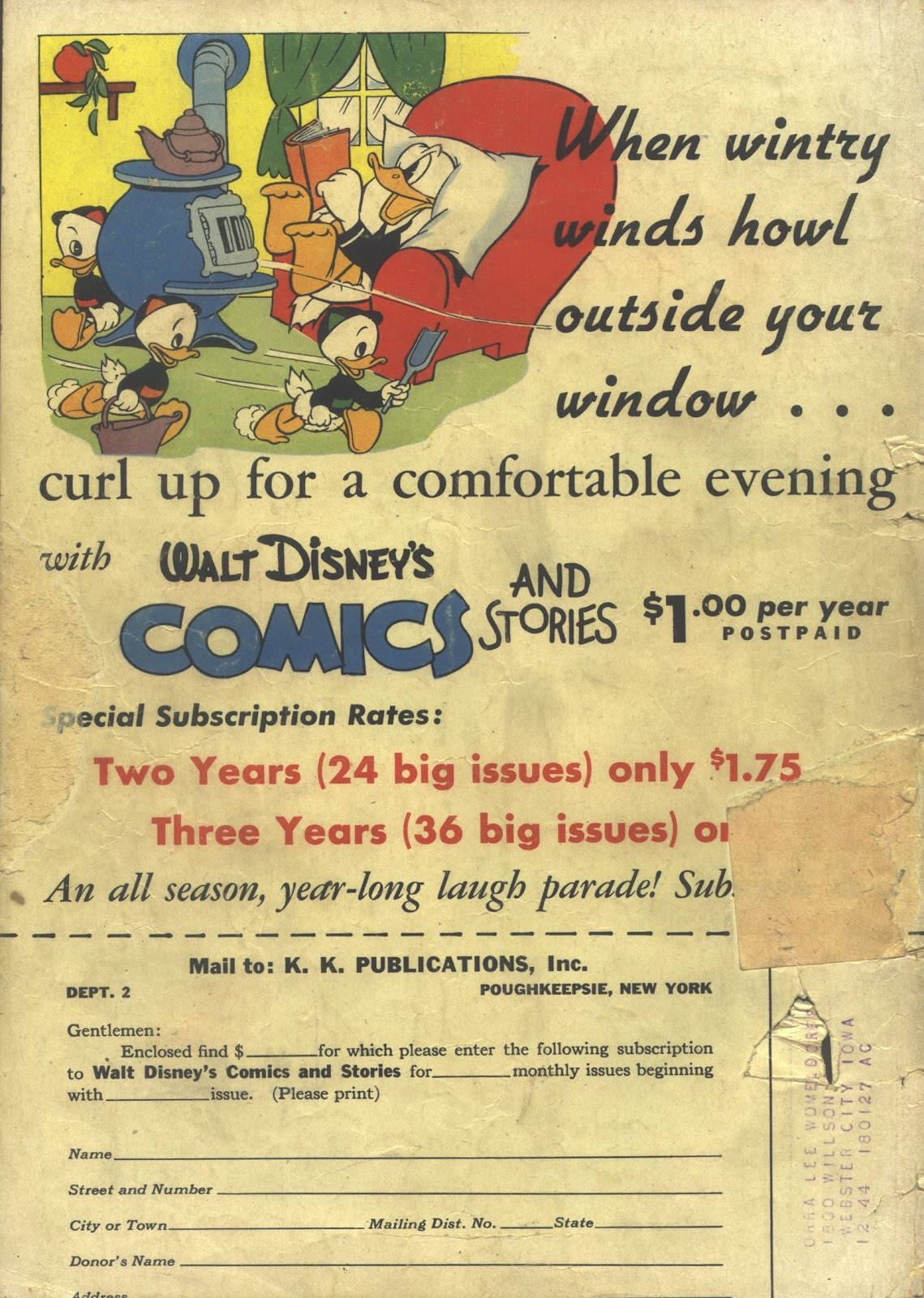 Walt Disney's Comics and Stories issue 41 - Page 60
