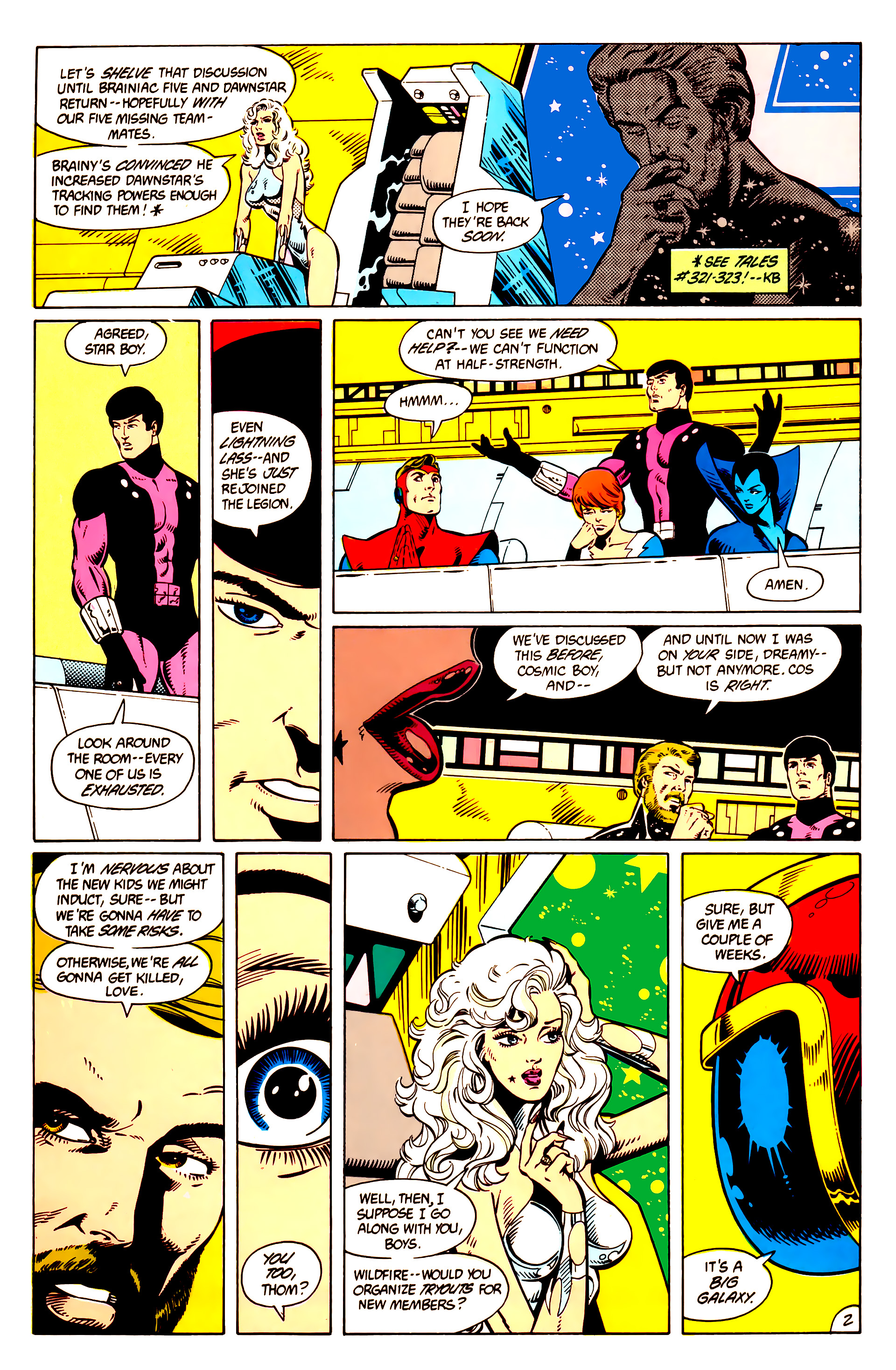 Legion of Super-Heroes (1984) 9 Page 3