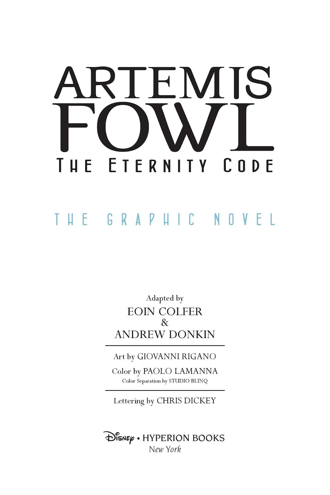 Artemis Fowl: The Eternity Code issue TPB - Page 3