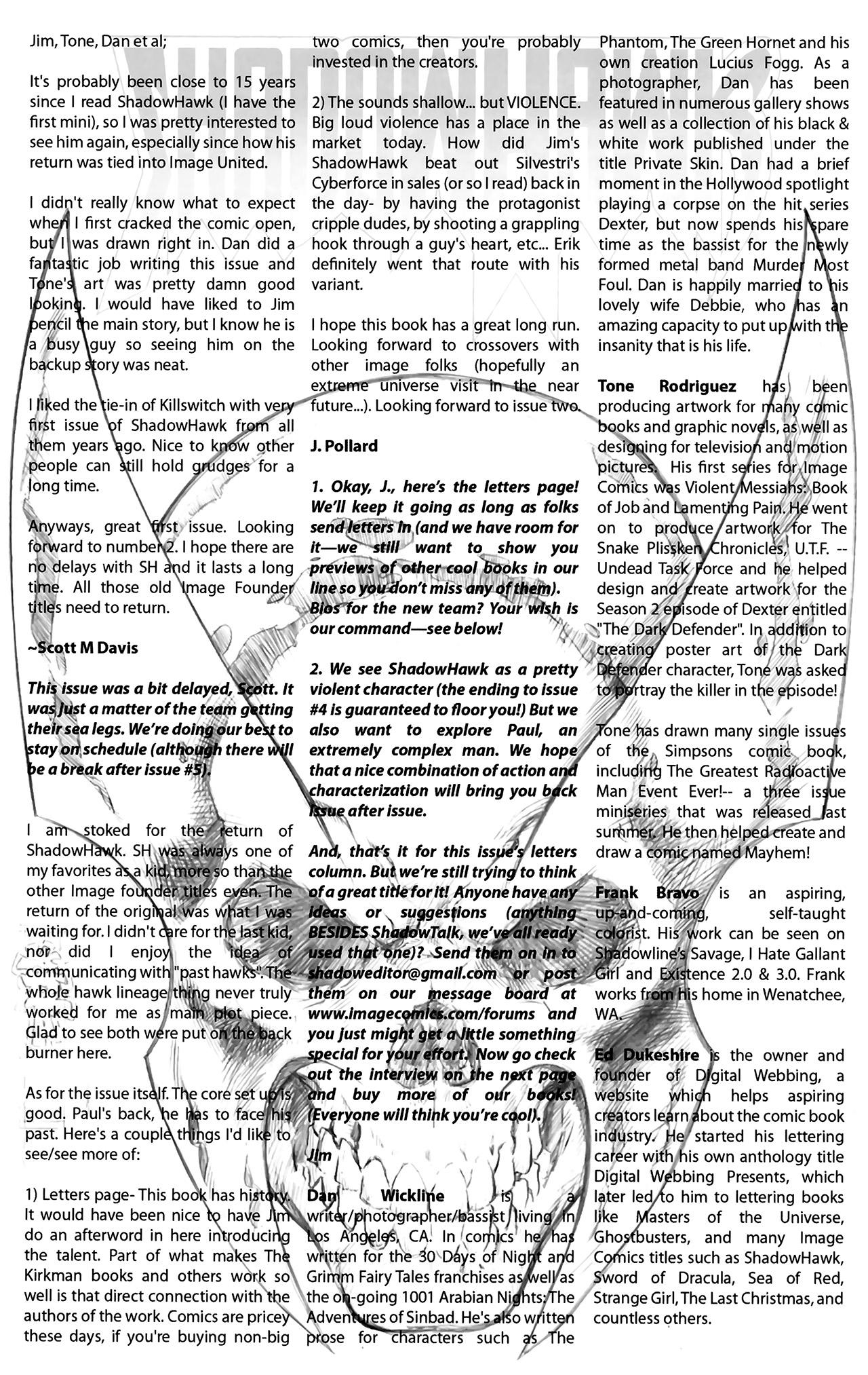 Read online ShadowHawk (2010) comic -  Issue #2 - 27