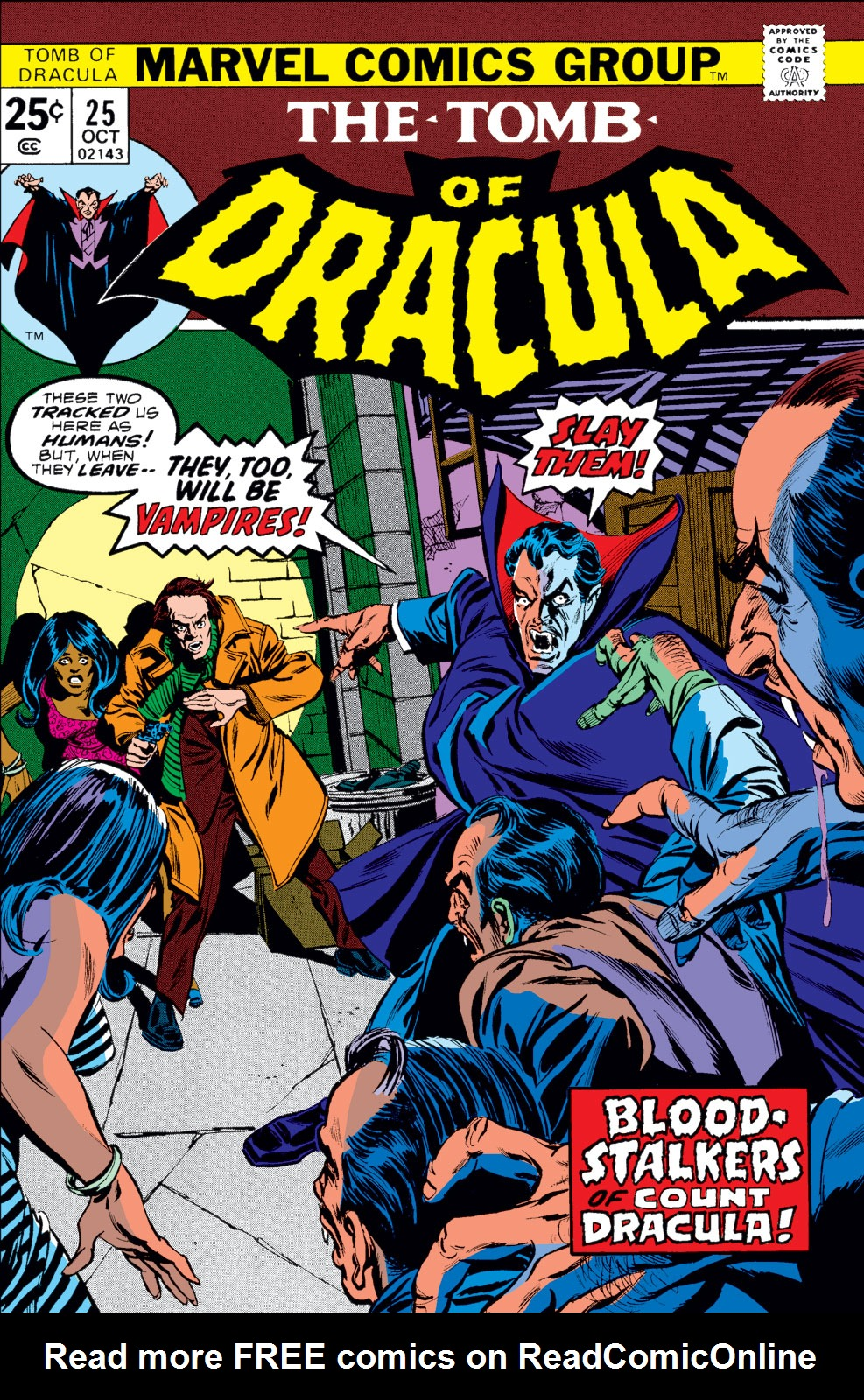 Tomb of Dracula (1972) issue 25 - Page 1