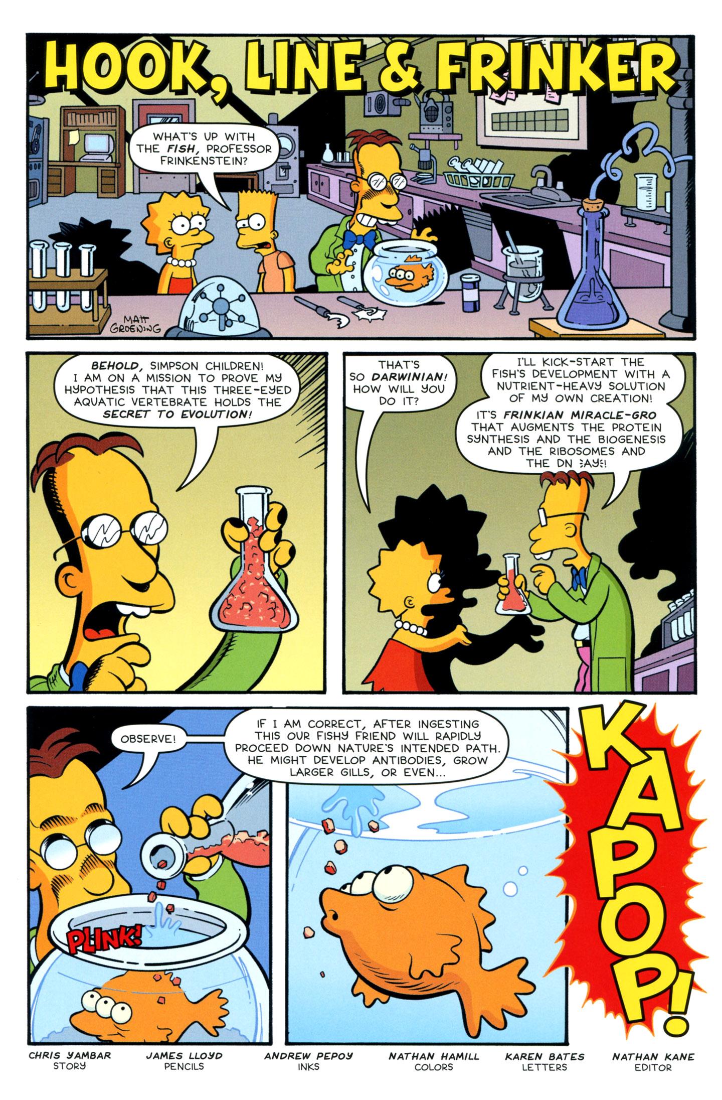 Read online Simpsons One-Shot Wonders: Professor Frink comic -  Issue # Full - 14
