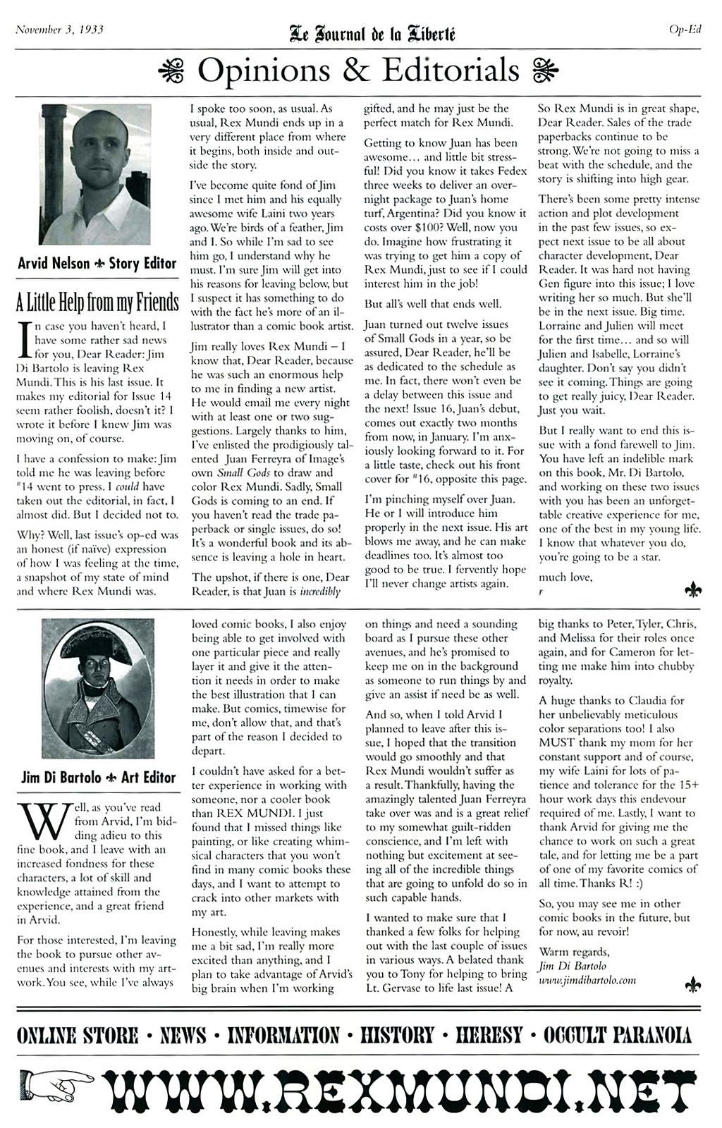 Read online Rex Mundi comic -  Issue #15 - 31