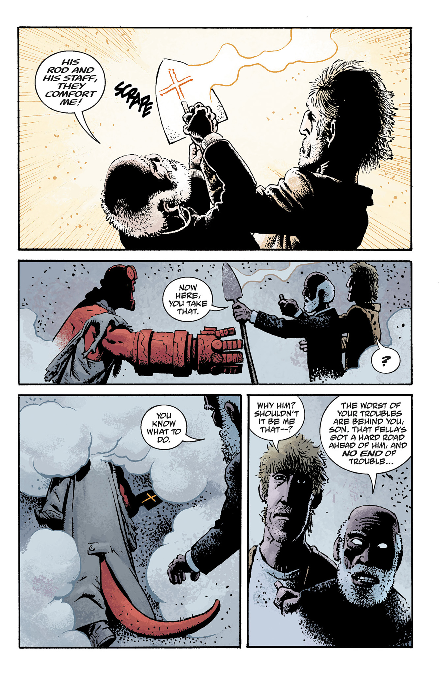 Read online Hellboy: The Crooked Man and Others comic -  Issue # TPB - 73