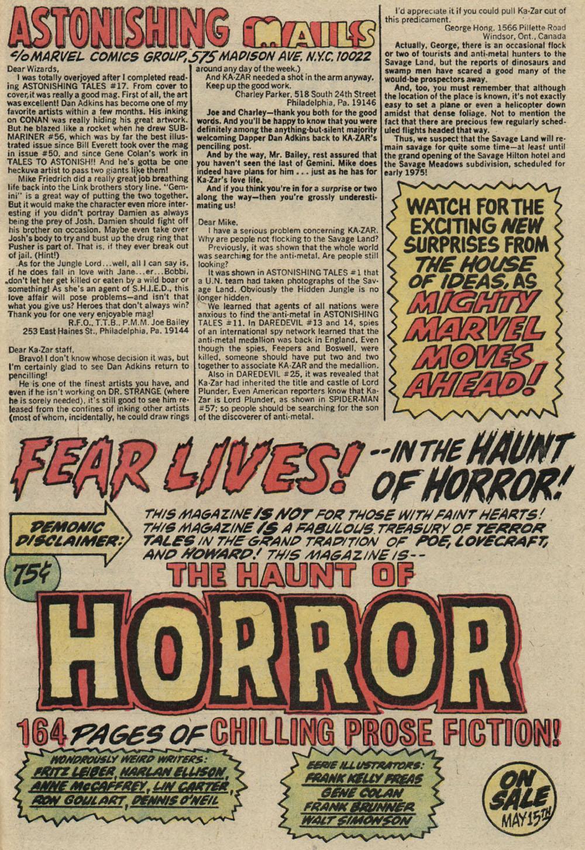 Read online Astonishing Tales (1970) comic -  Issue #19 - 21