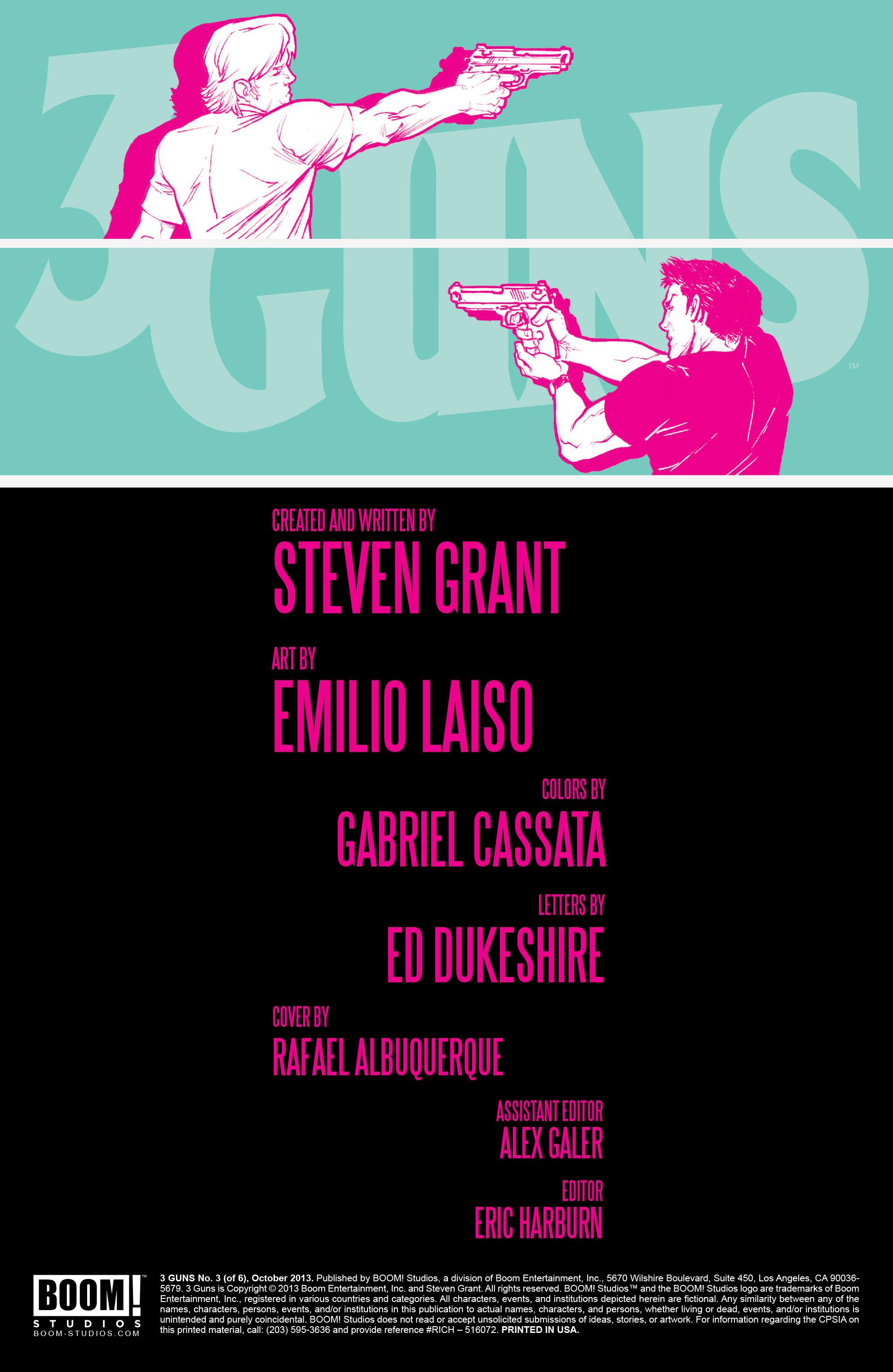 Read online 3 Guns comic -  Issue #3 - 2