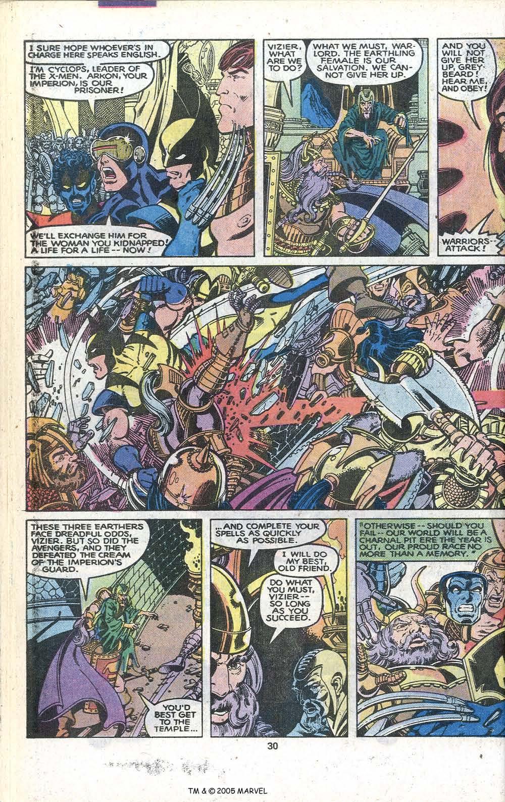Read online Uncanny X-Men (1963) comic -  Issue # _Annual 3 - 32