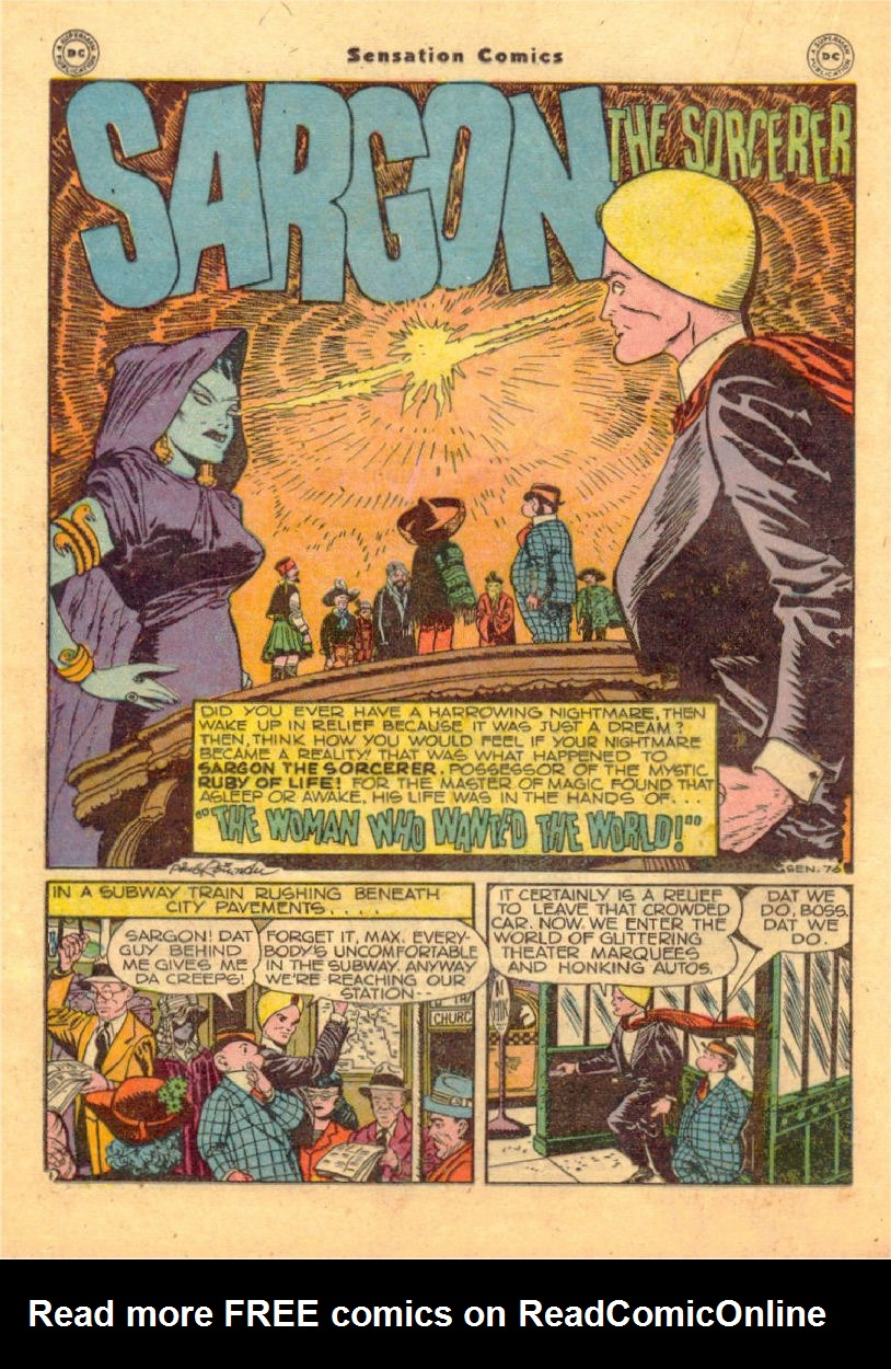 Read online Sensation (Mystery) Comics comic -  Issue #70 - 27