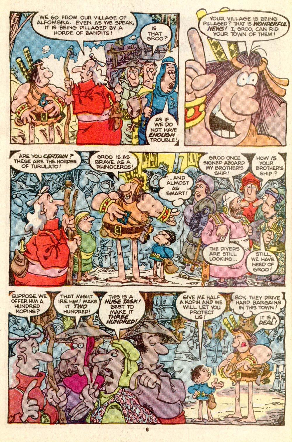 Read online Sergio Aragonés Groo the Wanderer comic -  Issue #25 - 6
