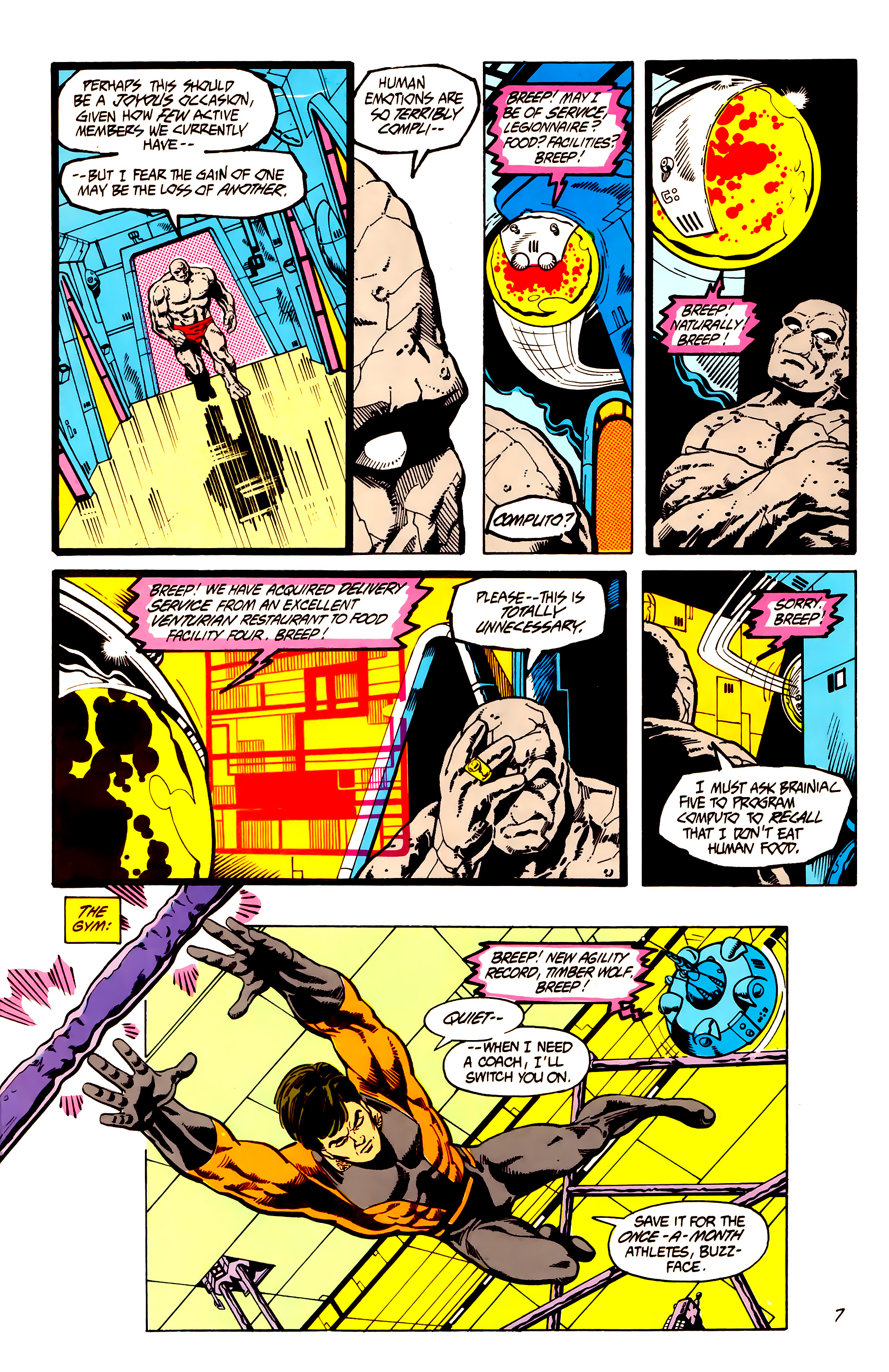 Legion of Super-Heroes (1984) 7 Page 8