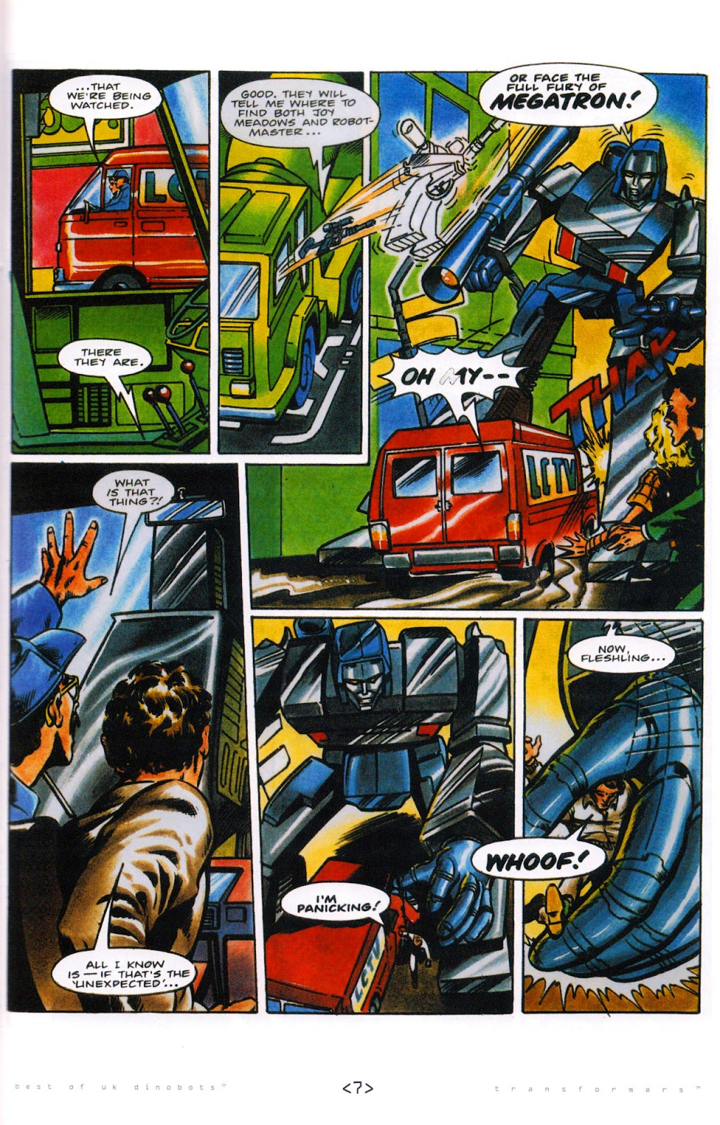 Read online The Transformers: Best of UK: Dinobots comic -  Issue #5 - 9