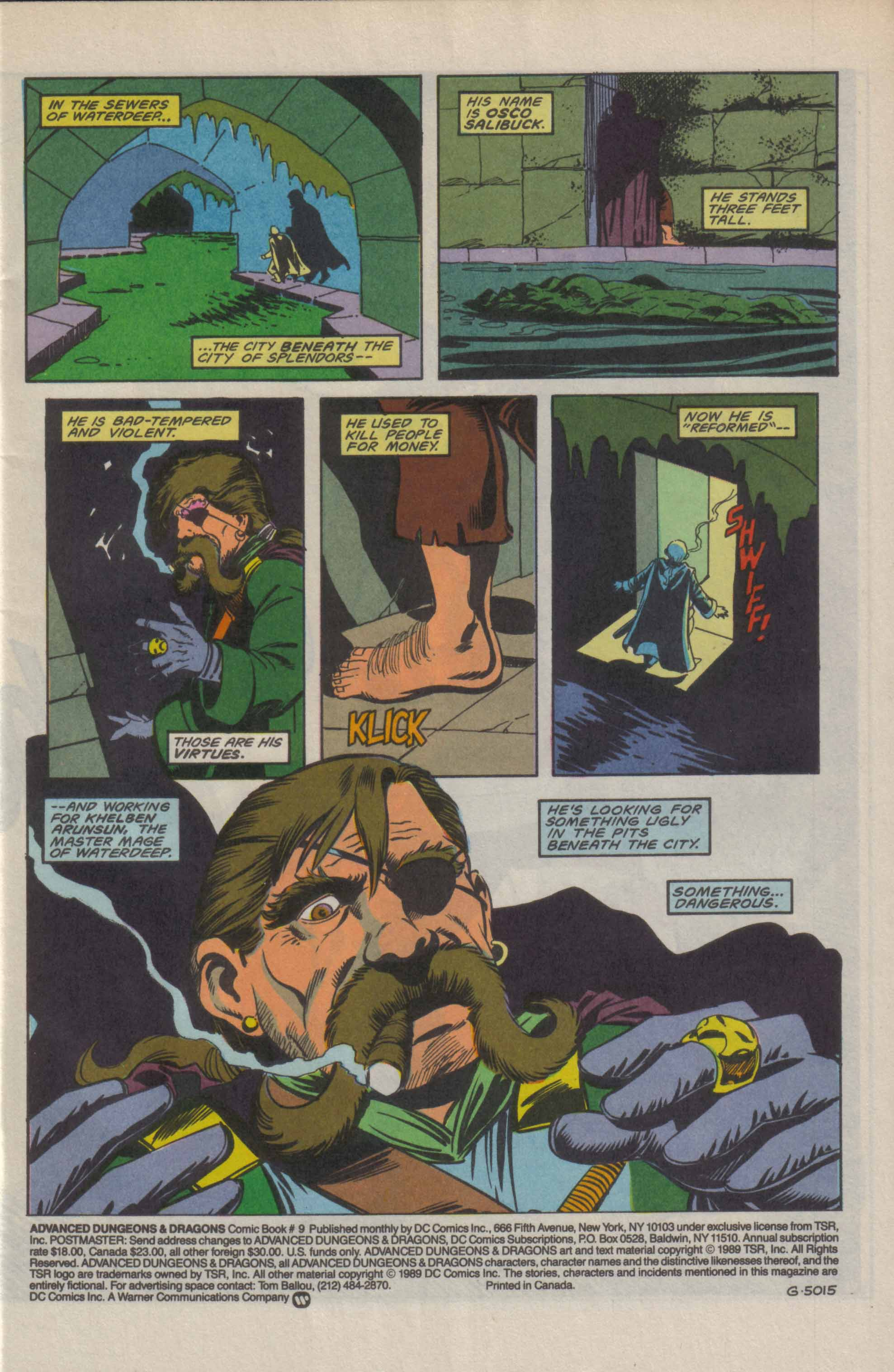 Read online Advanced Dungeons & Dragons comic -  Issue #9 - 2