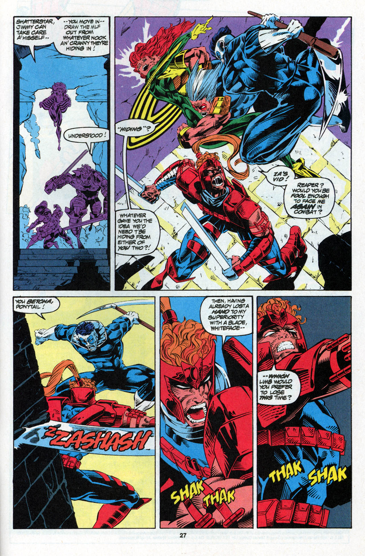 Read online X-Force (1991) comic -  Issue #27 - 27
