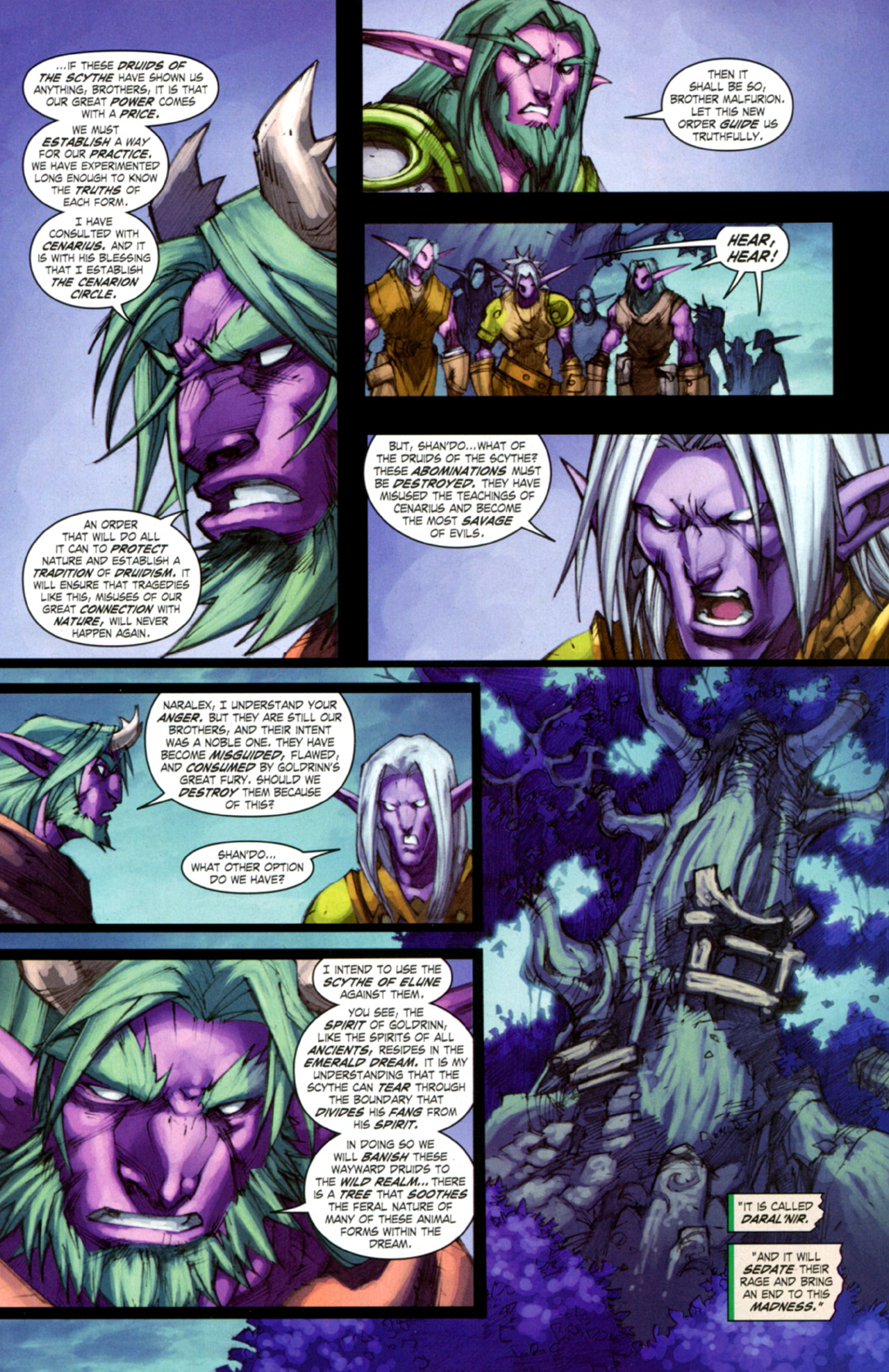 Read online World of Warcraft: Curse of the Worgen comic -  Issue #3 - 25