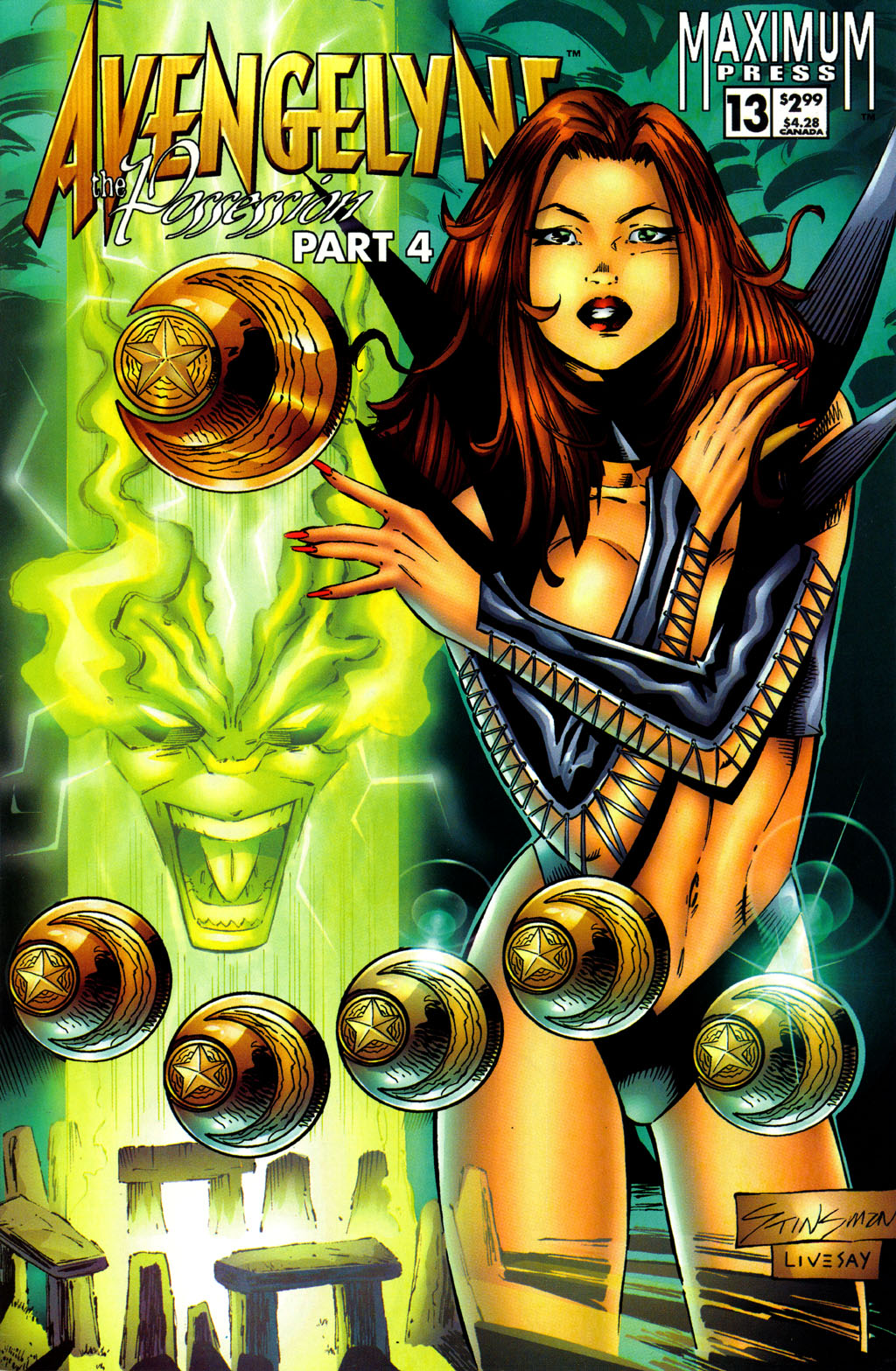 Read online Avengelyne (1996) comic -  Issue #13 - 1