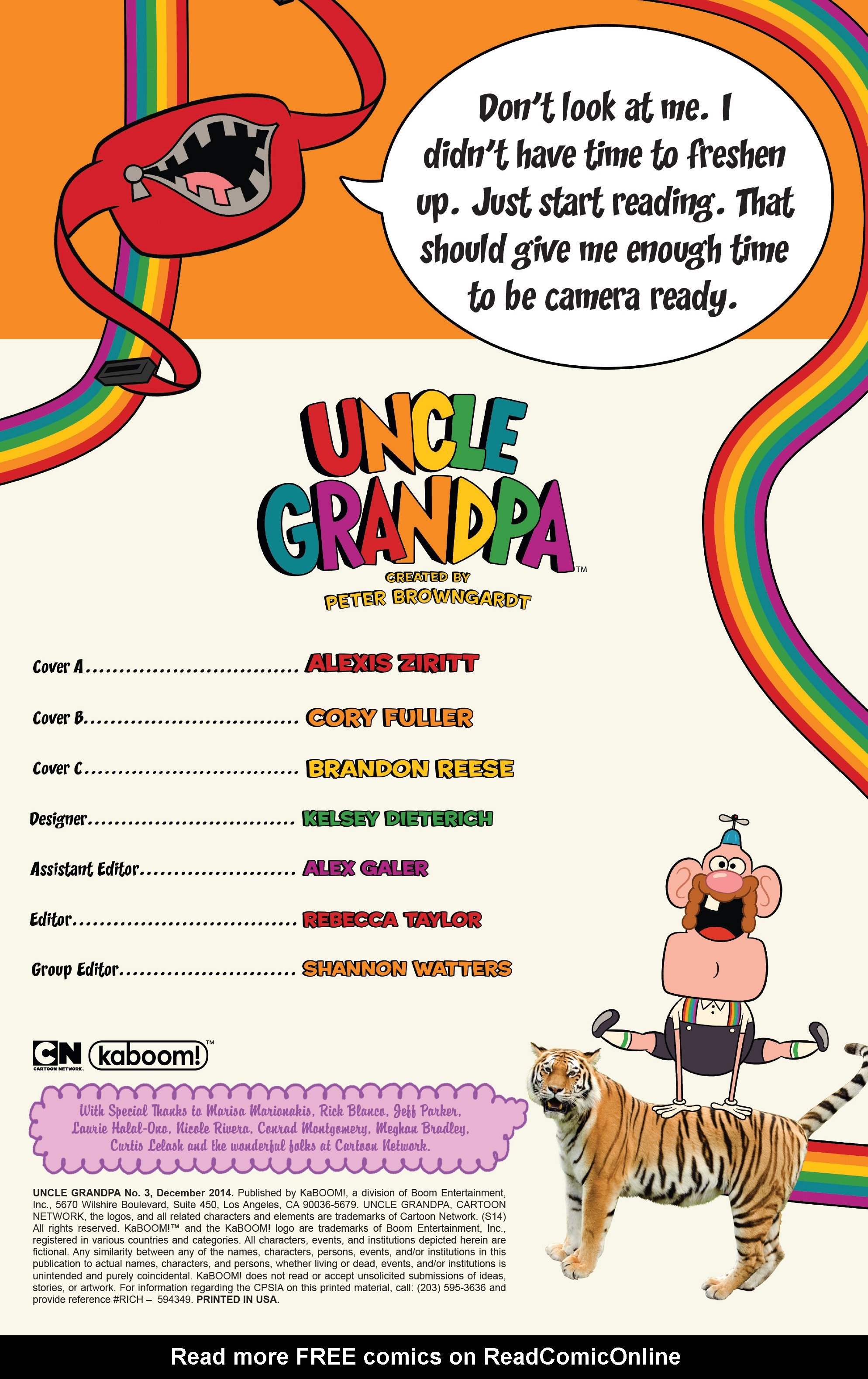 Read online Uncle Grandpa comic -  Issue #3 - 2