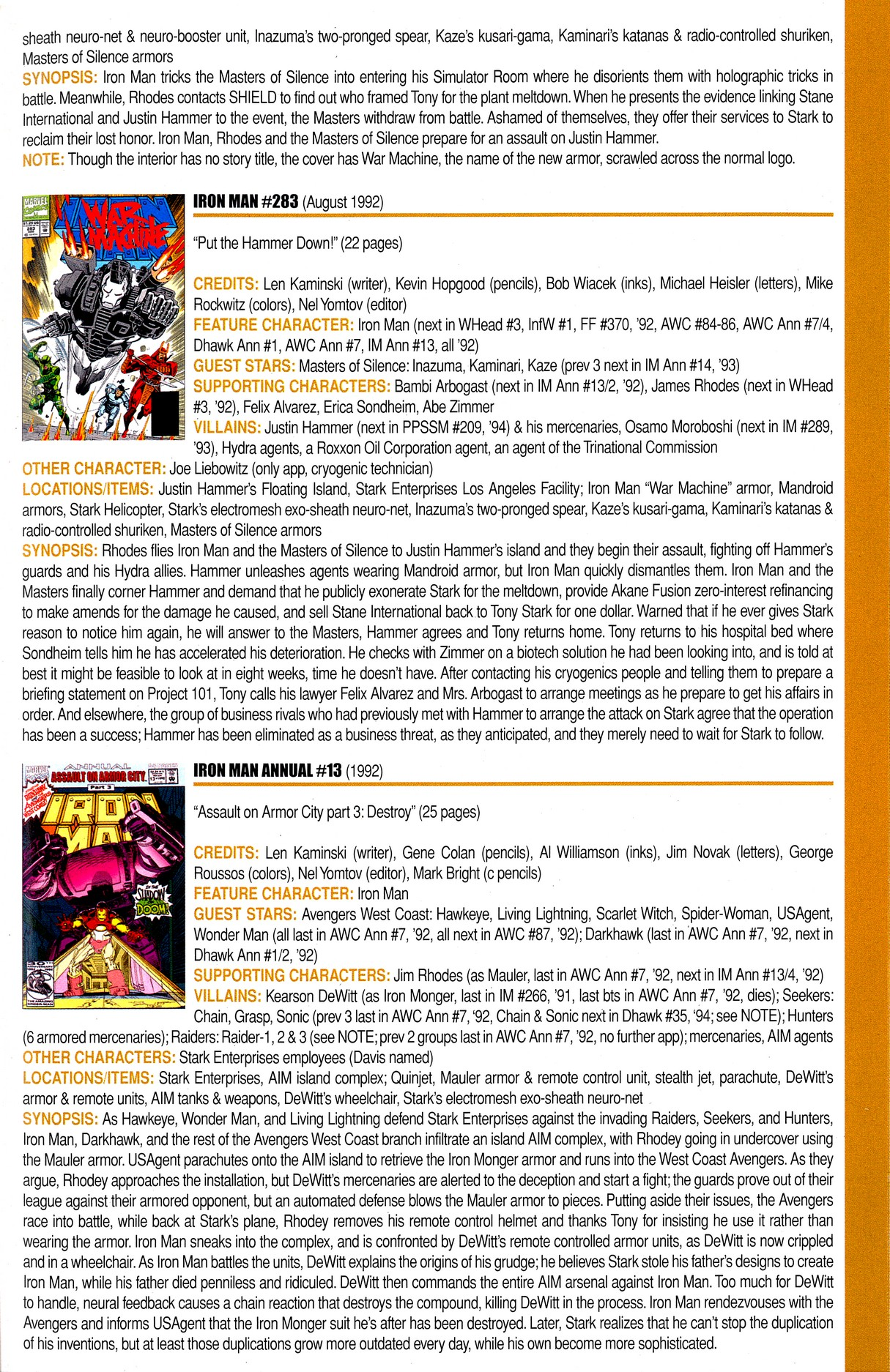 Read online Official Index to the Marvel Universe comic -  Issue #8 - 37