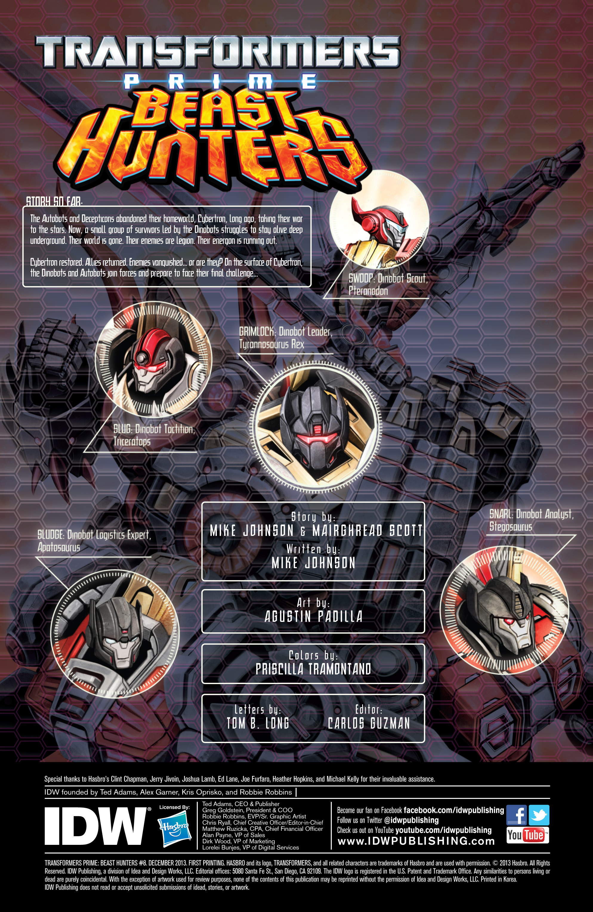 Read online Transformers Prime: Beast Hunters comic -  Issue #8 - 2