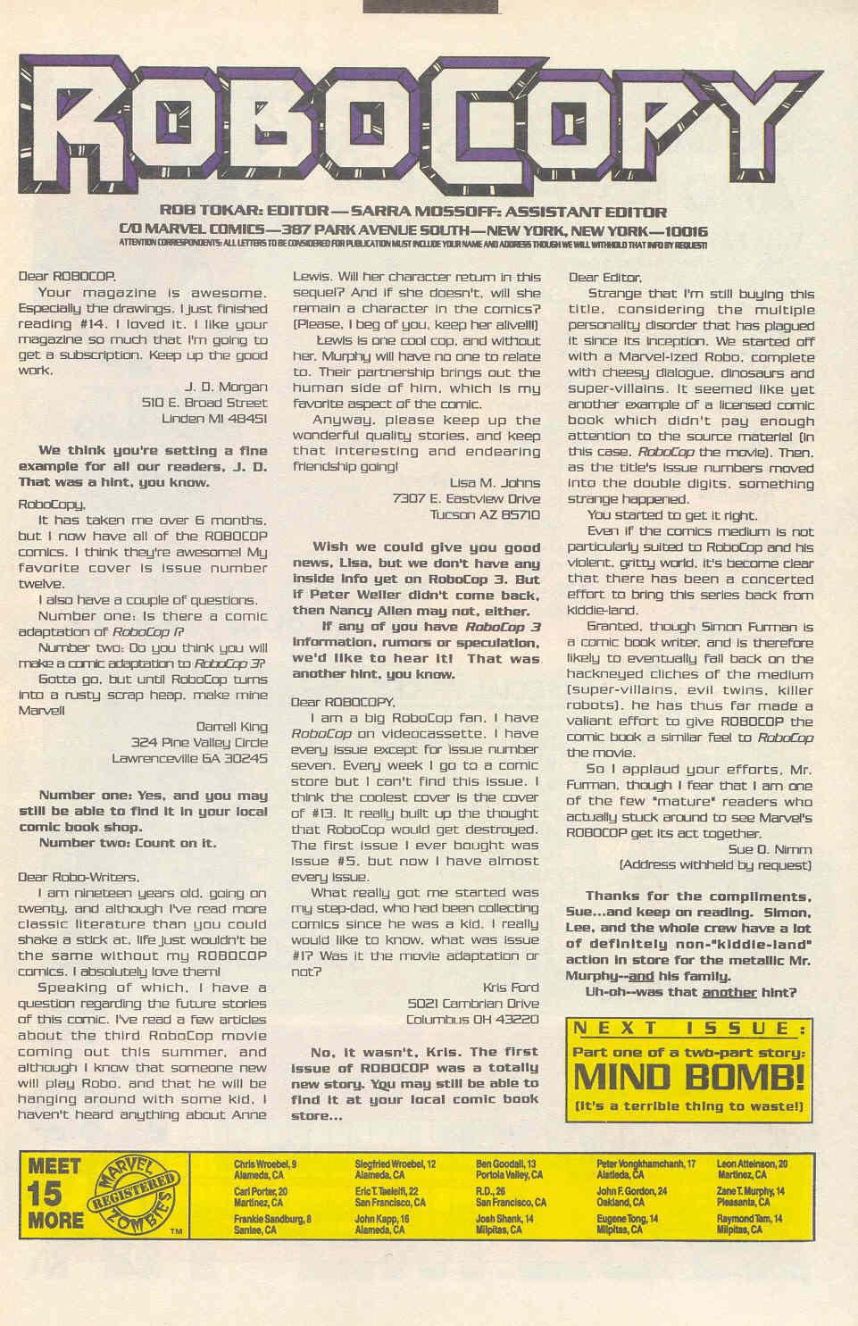 Read online Robocop (1990) comic -  Issue #17 - 24