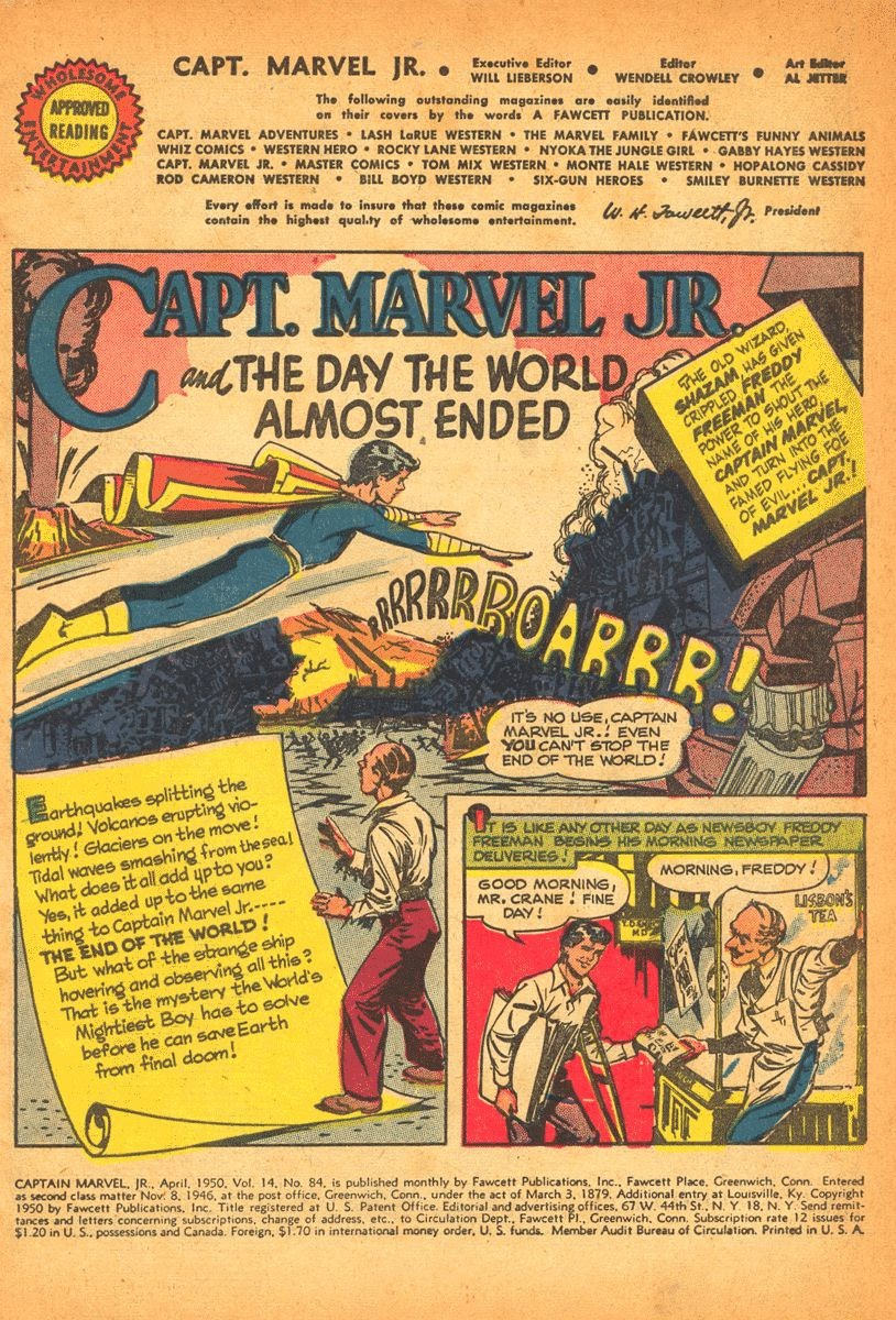Captain Marvel, Jr. issue 84 - Page 2