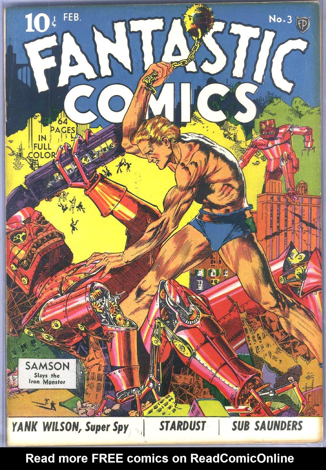 Read online Fantastic Comics comic -  Issue #3 - 2