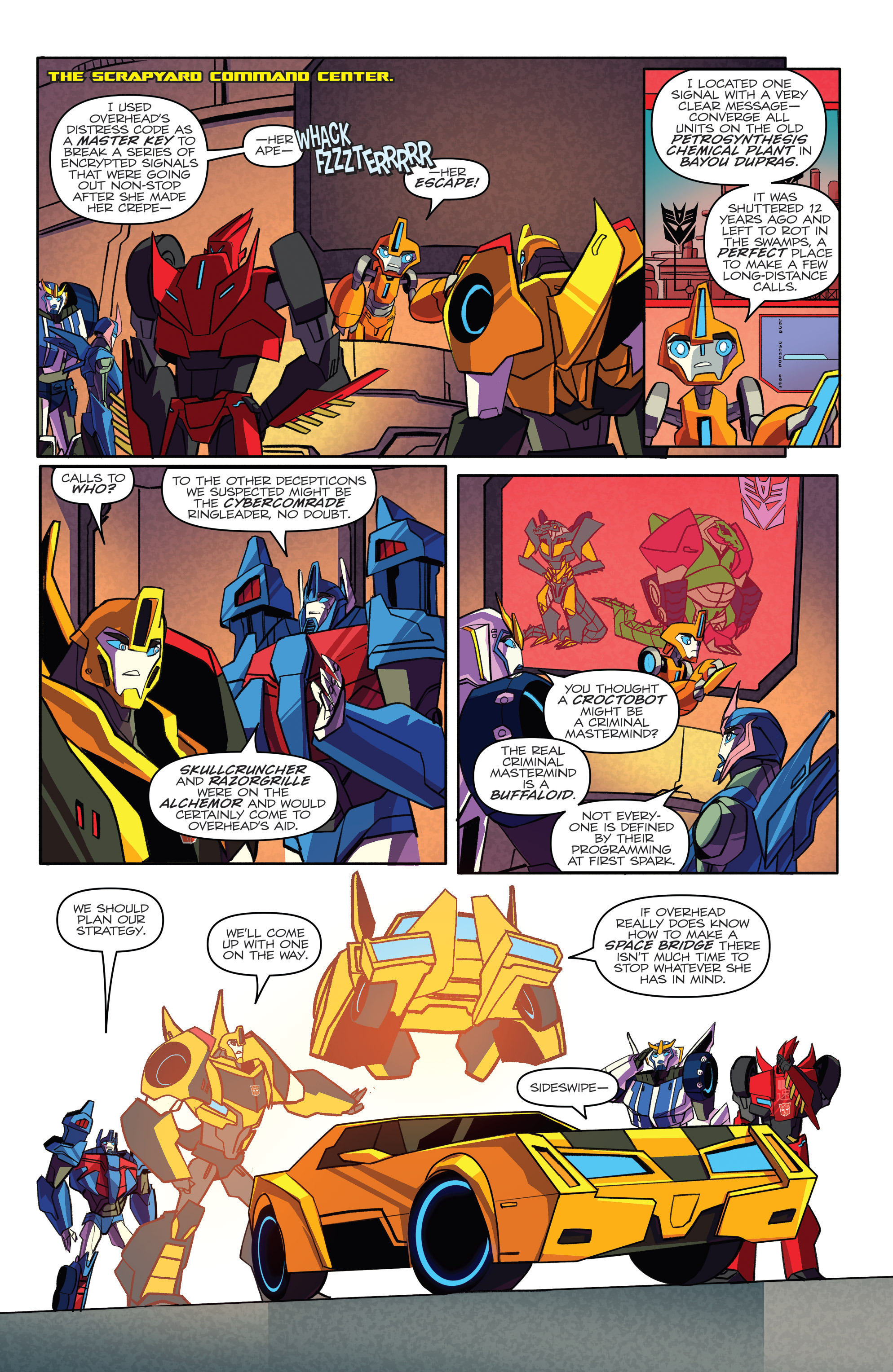 Read online Transformers: Robots In Disguise (2015) comic -  Issue #4 - 12
