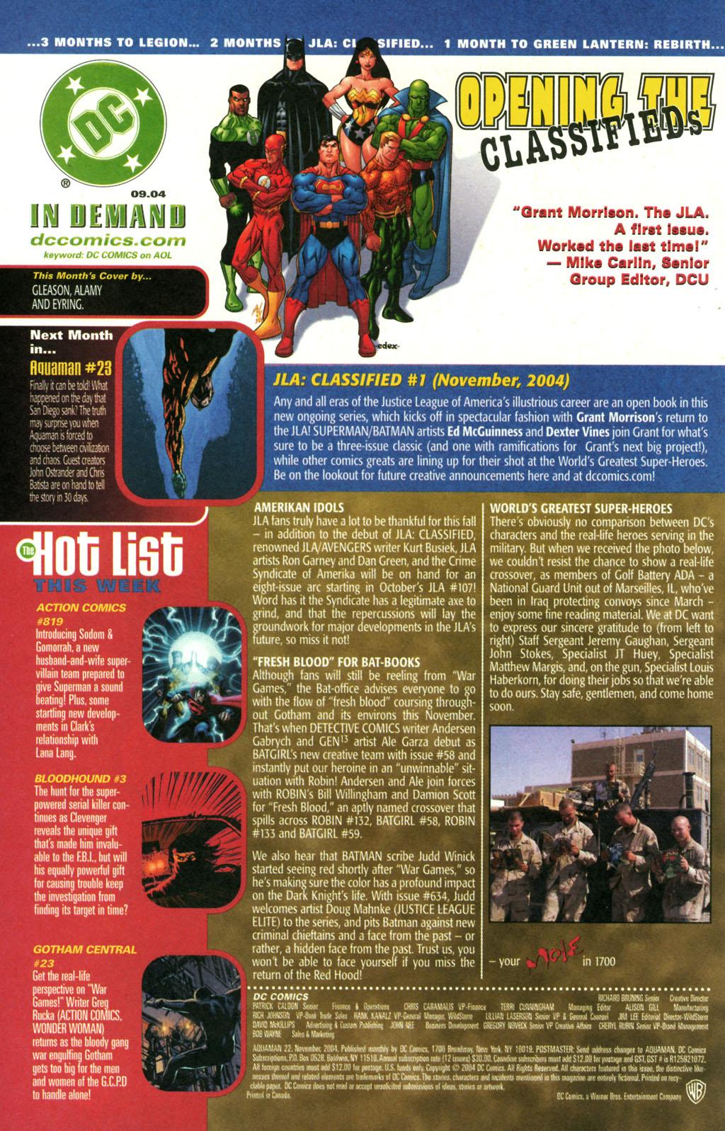 Read online Aquaman (2003) comic -  Issue #22 - 24