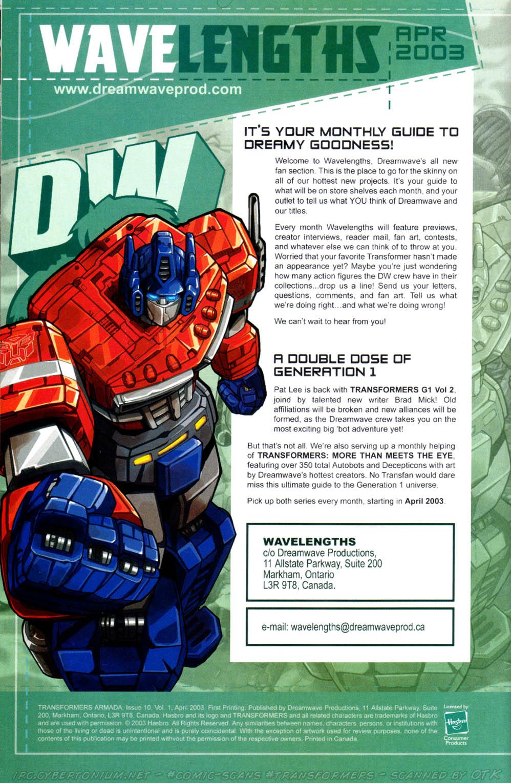 Read online Transformers Armada comic -  Issue #10 - 31