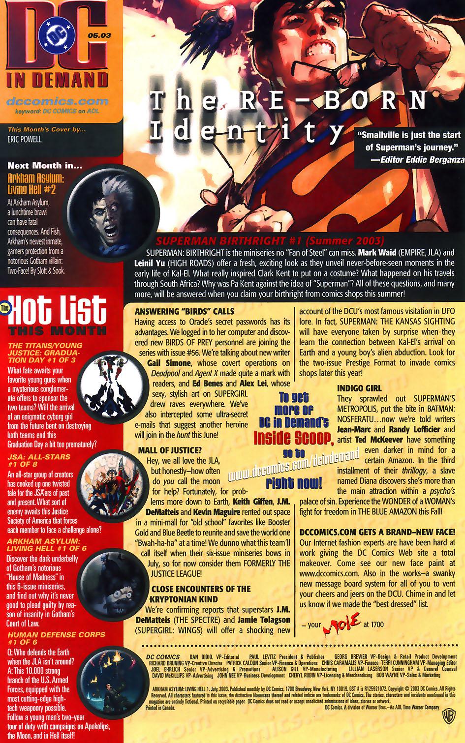 Read online Arkham Asylum: Living Hell comic -  Issue #1 - 26