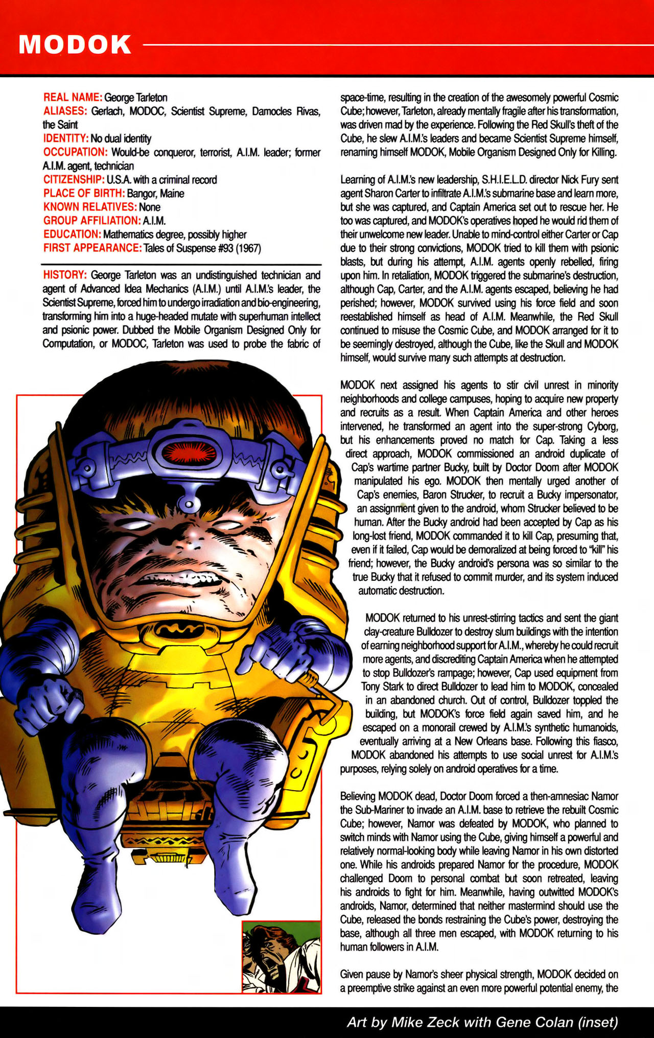 Read online All-New Official Handbook of the Marvel Universe A to Z comic -  Issue #7 - 46