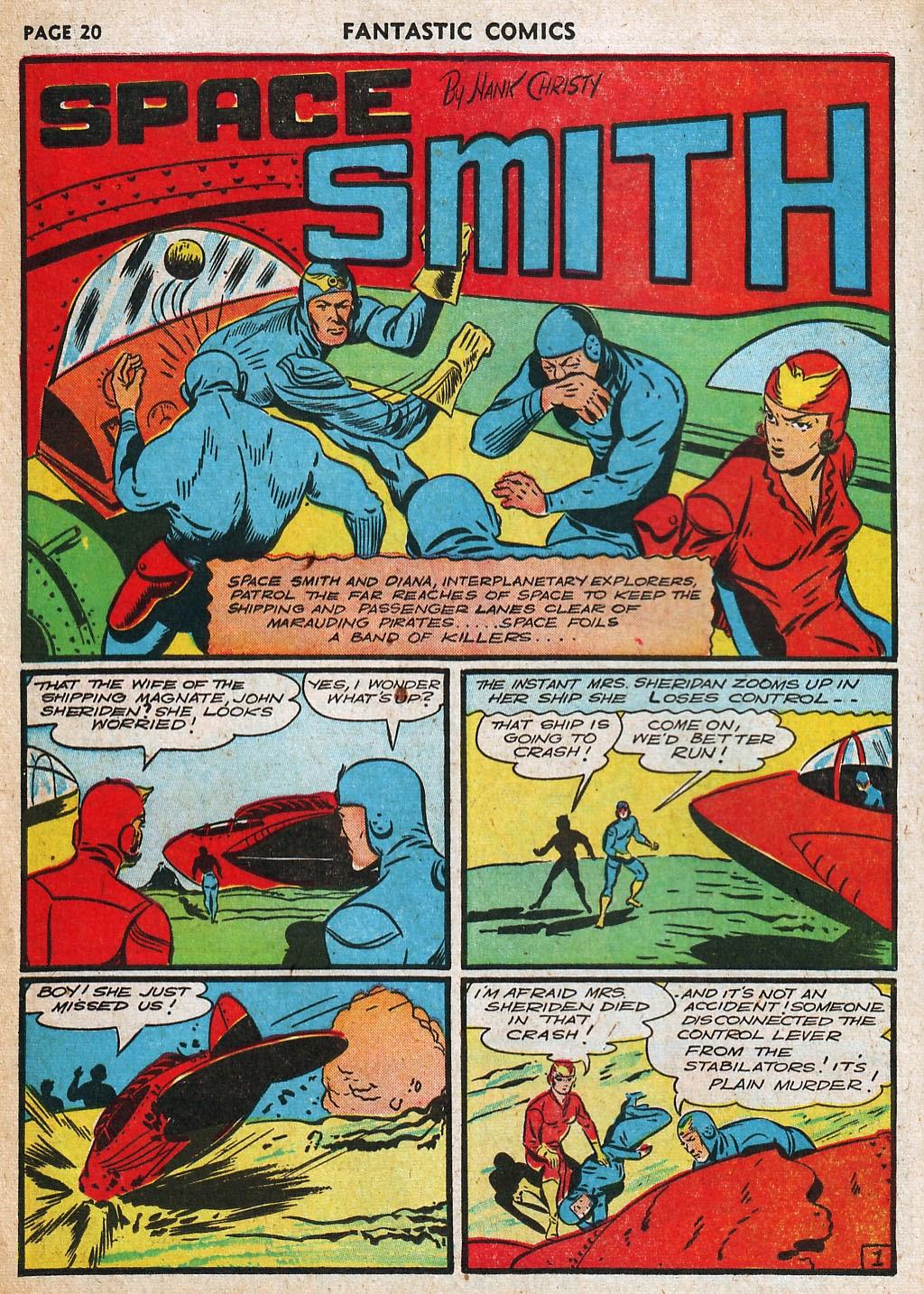 Read online Fantastic Comics comic -  Issue #20 - 21