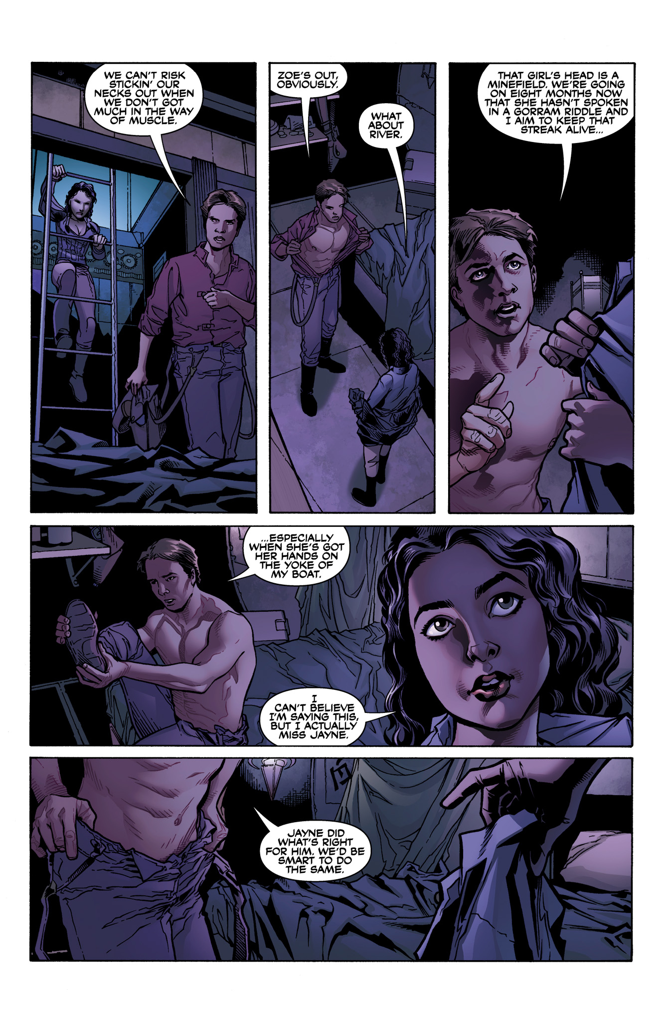Read online Serenity: Firefly Class 03-K64  Leaves on the Wind comic -  Issue #1 - 13