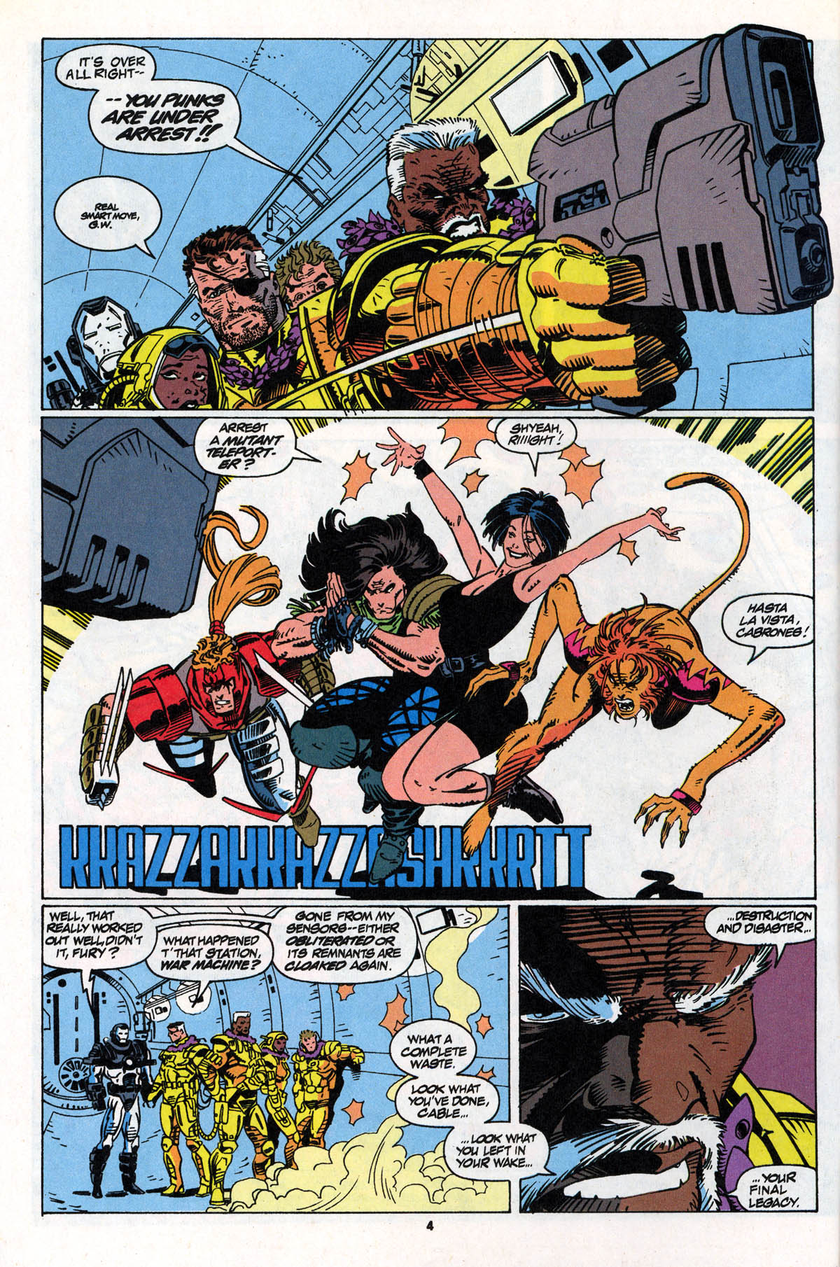 Read online X-Force (1991) comic -  Issue #22 - 5