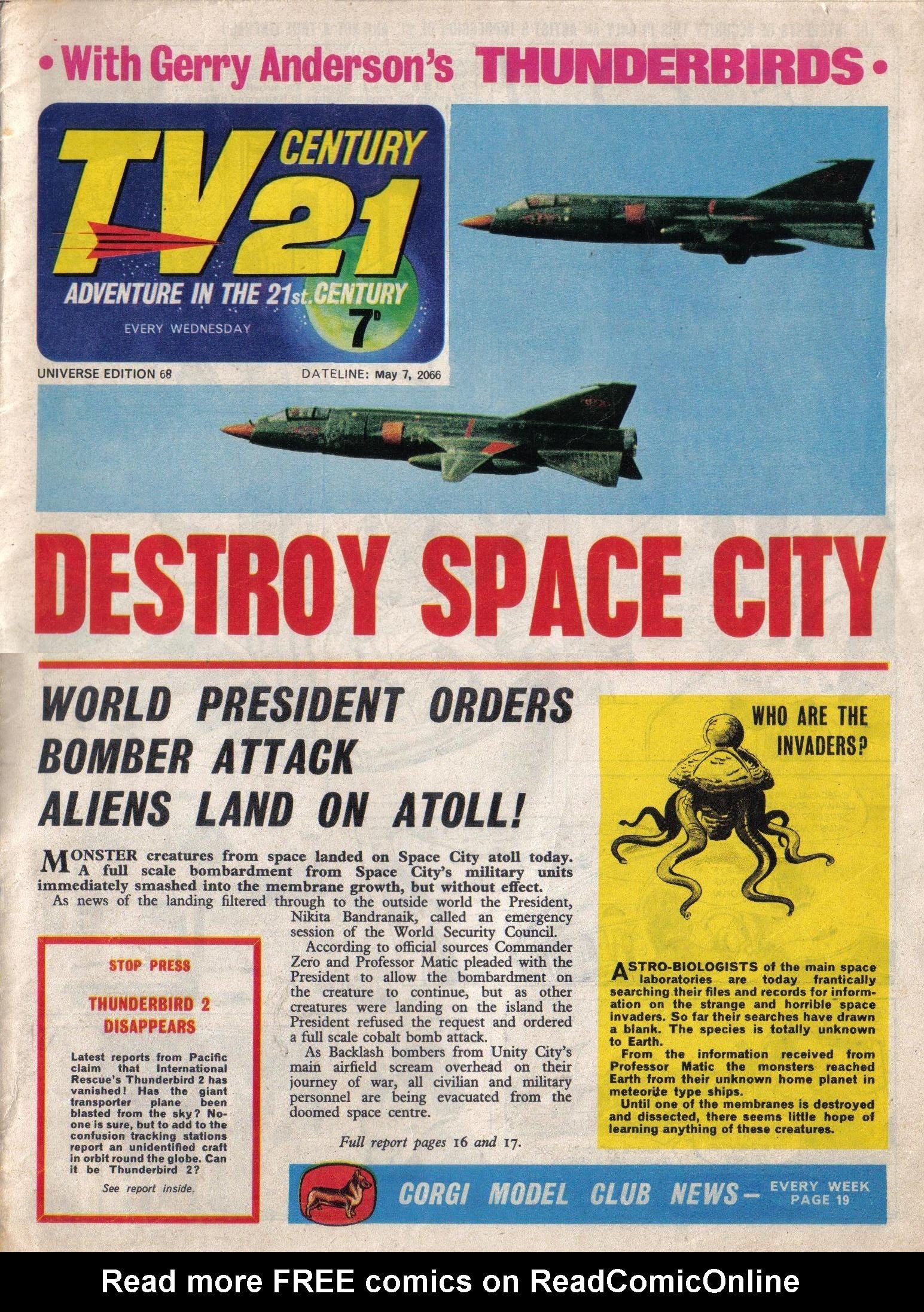 Read online TV Century 21 (TV 21) comic -  Issue #68 - 1