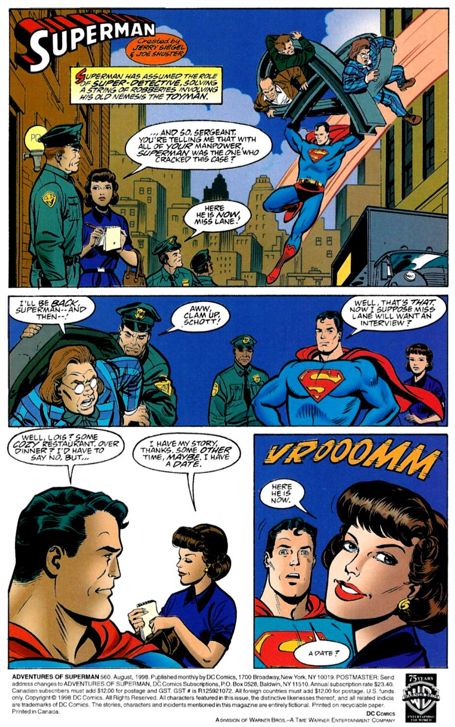 Read online Adventures of Superman (1987) comic -  Issue #560 - 2