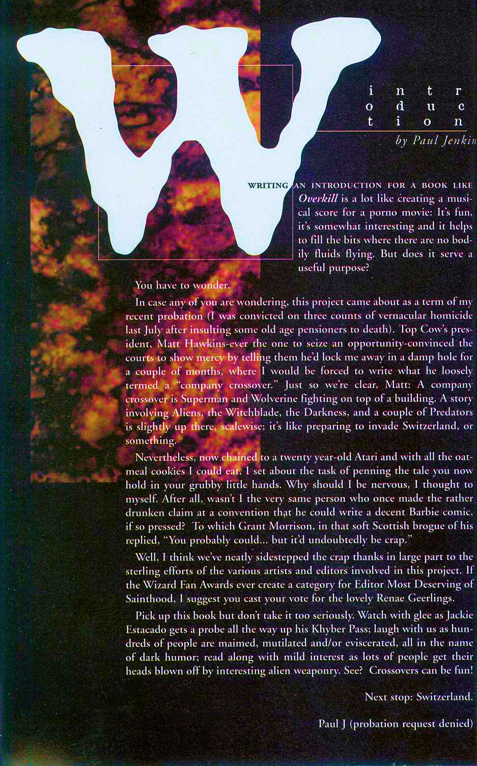 Read online Overkill: Witchblade/Aliens/Darkness/Predator comic -  Issue #2 - 4